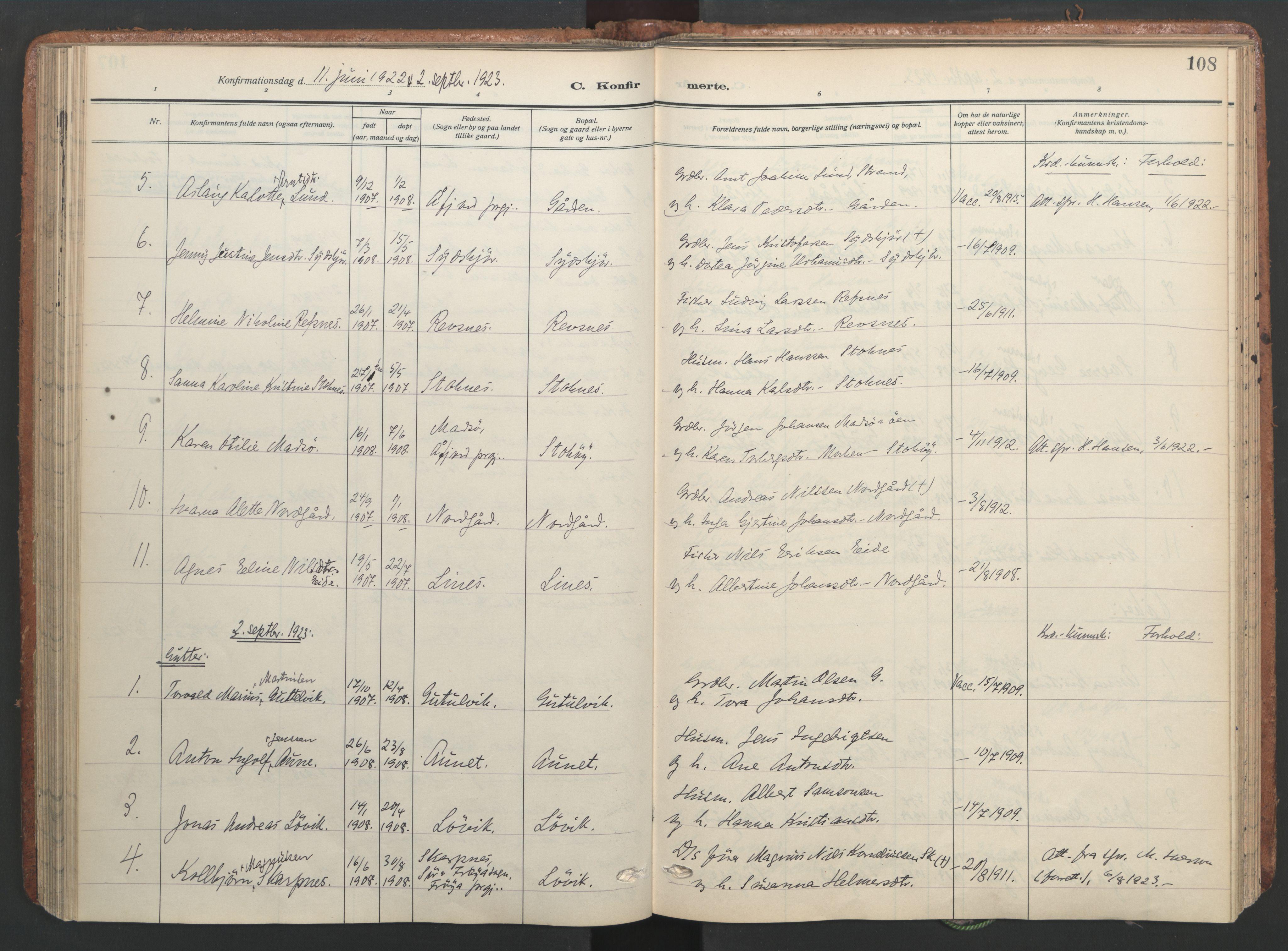 SAT, Ministerialprotokoller, klokkerbøker og fødselsregistre - Sør-Trøndelag, 656/L0694: Ministerialbok nr. 656A03, 1914-1931, s. 108