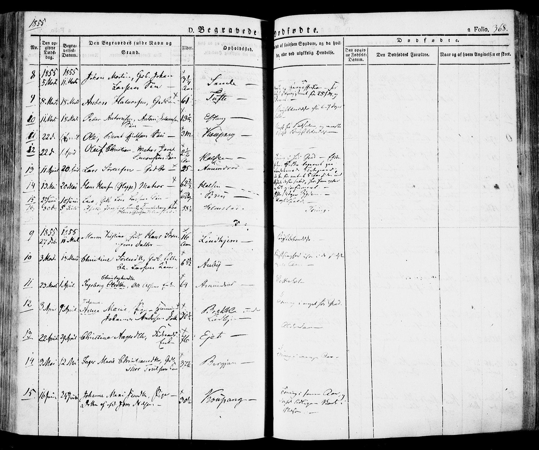 SAKO, Tjølling kirkebøker, F/Fa/L0006: Ministerialbok nr. 6, 1835-1859, s. 368