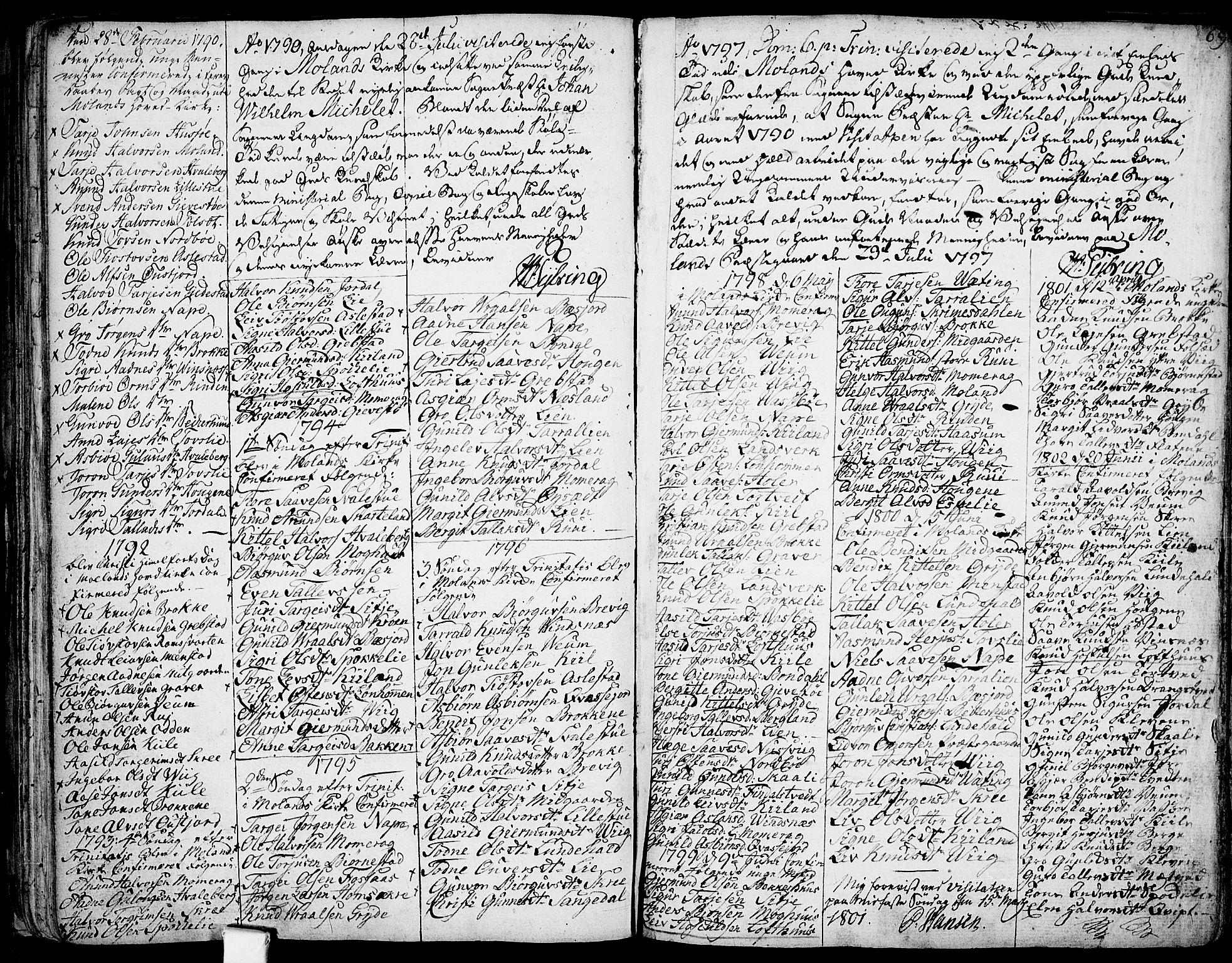 SAKO, Fyresdal kirkebøker, F/Fa/L0002: Ministerialbok nr. I 2, 1769-1814, s. 69