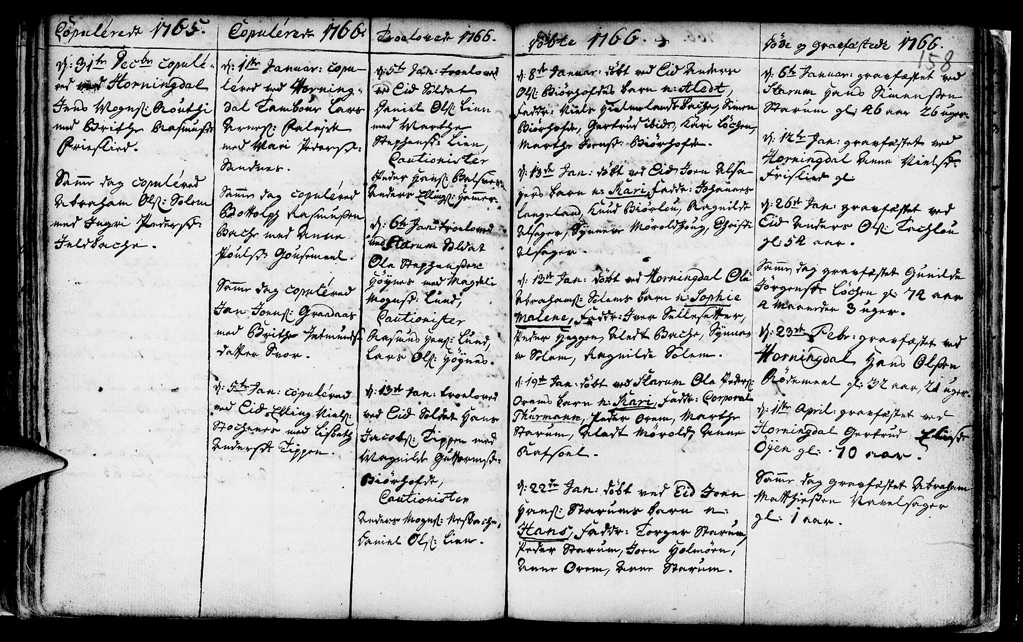 SAB, Eid Sokneprestembete, H/Haa: Ministerialbok nr. A 2, 1741-1769, s. 158