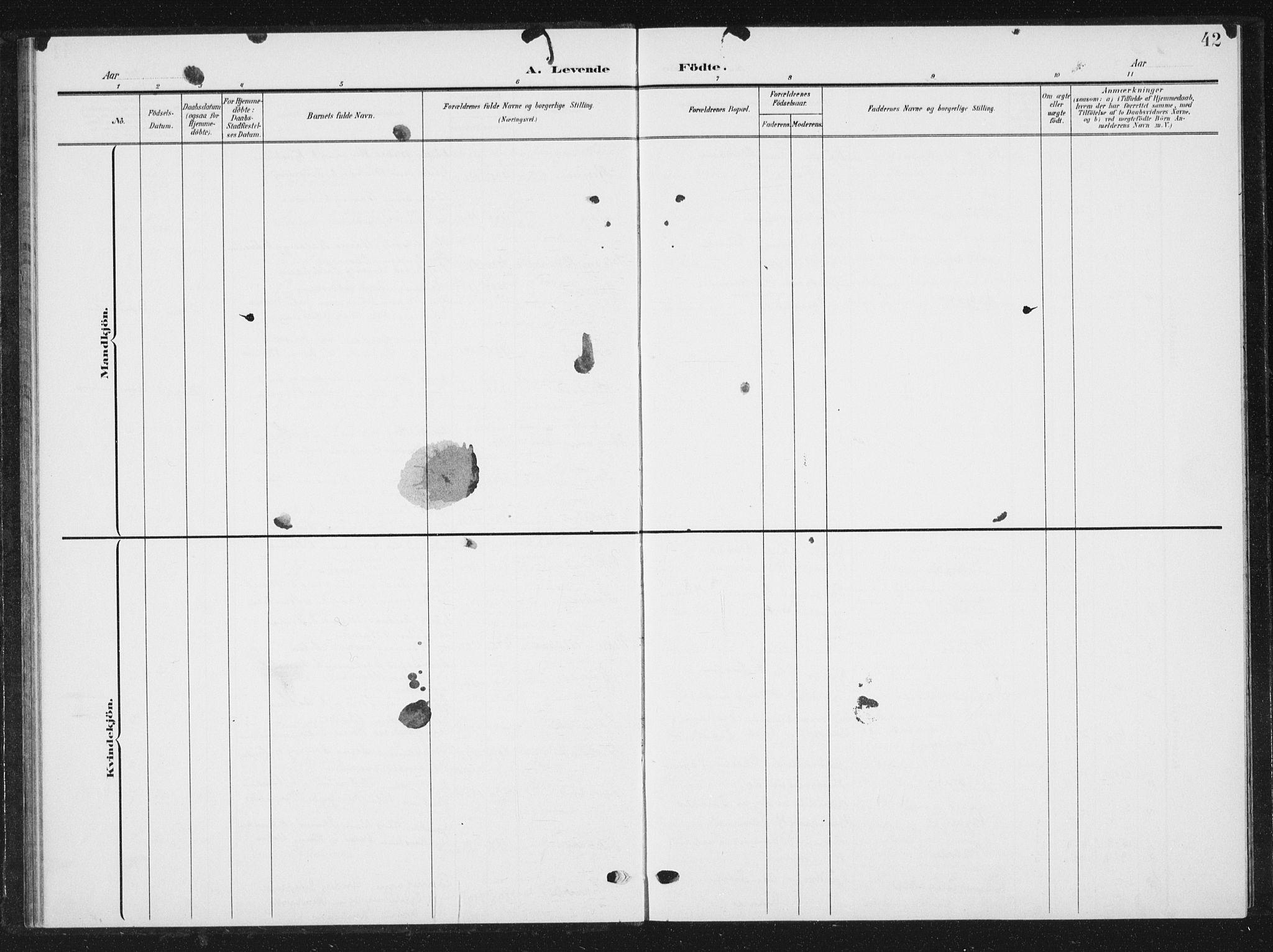 SAT, Ministerialprotokoller, klokkerbøker og fødselsregistre - Sør-Trøndelag, 616/L0424: Klokkerbok nr. 616C07, 1904-1940, s. 42