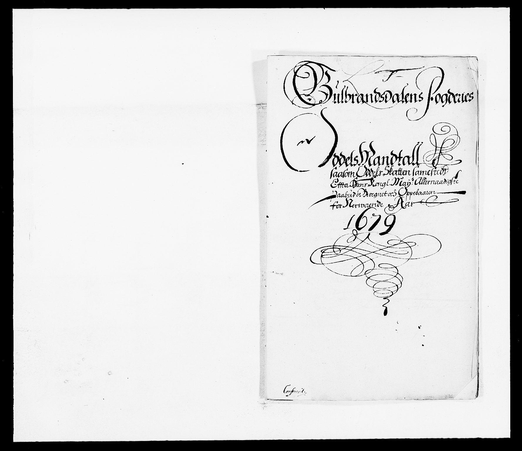 RA, Rentekammeret inntil 1814, Reviderte regnskaper, Fogderegnskap, R17/L1153: Fogderegnskap Gudbrandsdal, 1678-1679, s. 272