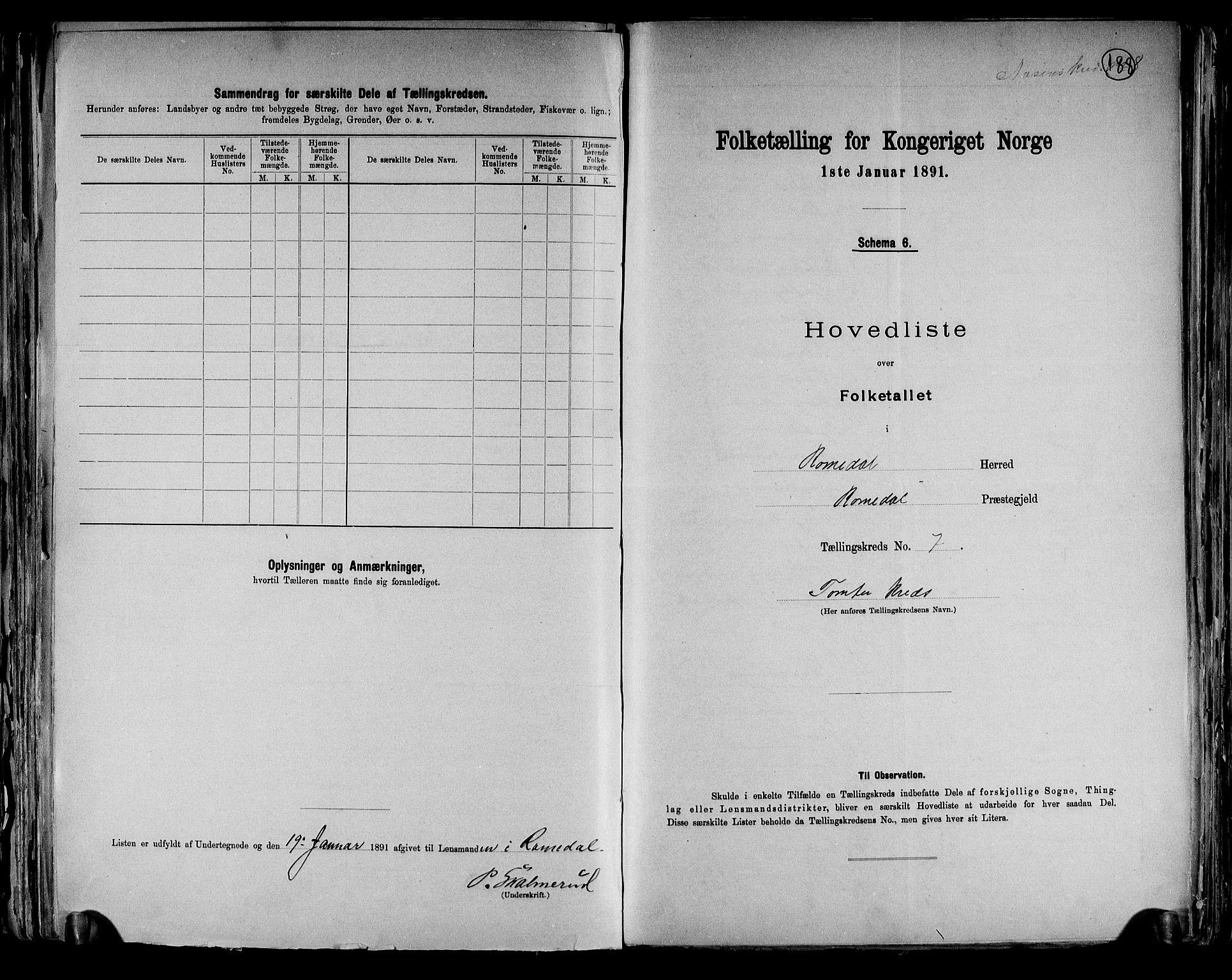 RA, Folketelling 1891 for 0416 Romedal herred, 1891, s. 17