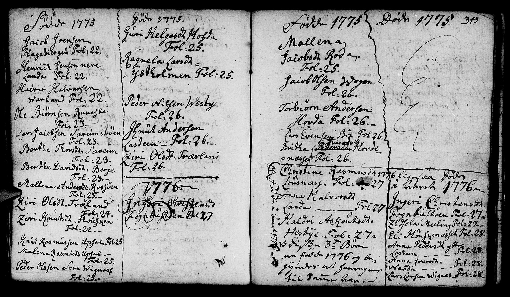 SAST, Finnøy sokneprestkontor, H/Ha/Haa/L0005: Ministerialbok nr. A 5, 1773-1816, s. 343