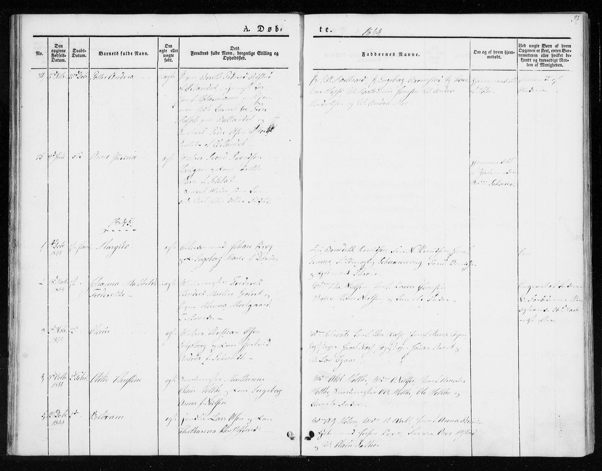 SAT, Ministerialprotokoller, klokkerbøker og fødselsregistre - Sør-Trøndelag, 604/L0183: Ministerialbok nr. 604A04, 1841-1850, s. 24
