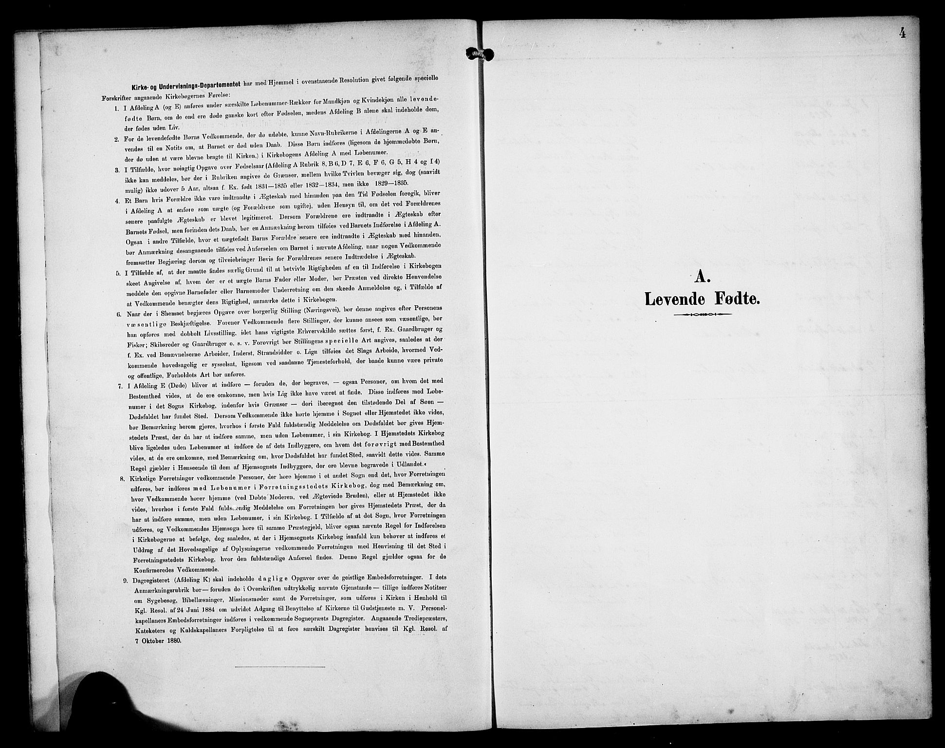 SAB, Manger sokneprestembete, H/Haa: Ministerialbok nr. B 2, 1893-1906, s. 4