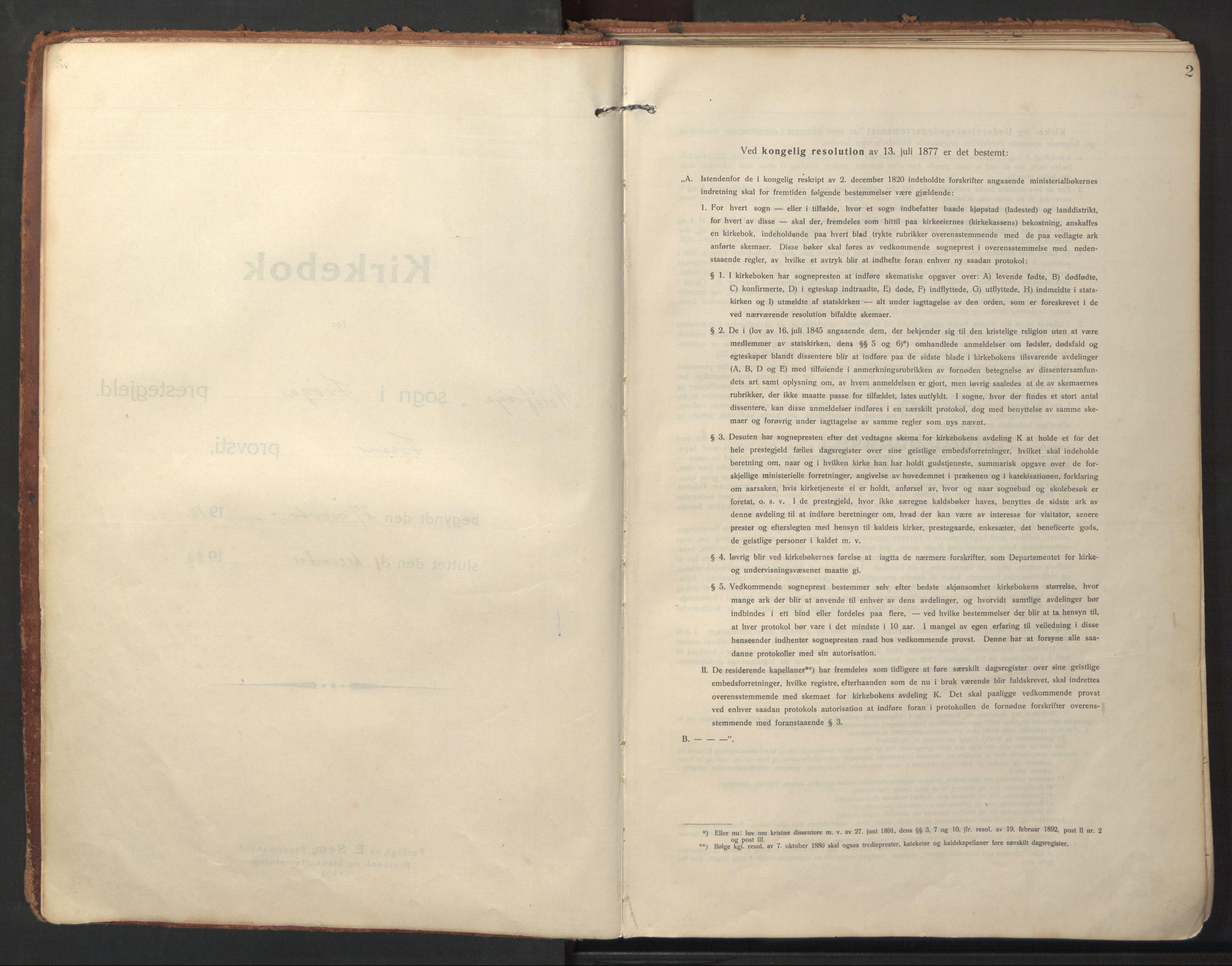 SAT, Ministerialprotokoller, klokkerbøker og fødselsregistre - Sør-Trøndelag, 640/L0581: Ministerialbok nr. 640A06, 1910-1924, s. 2