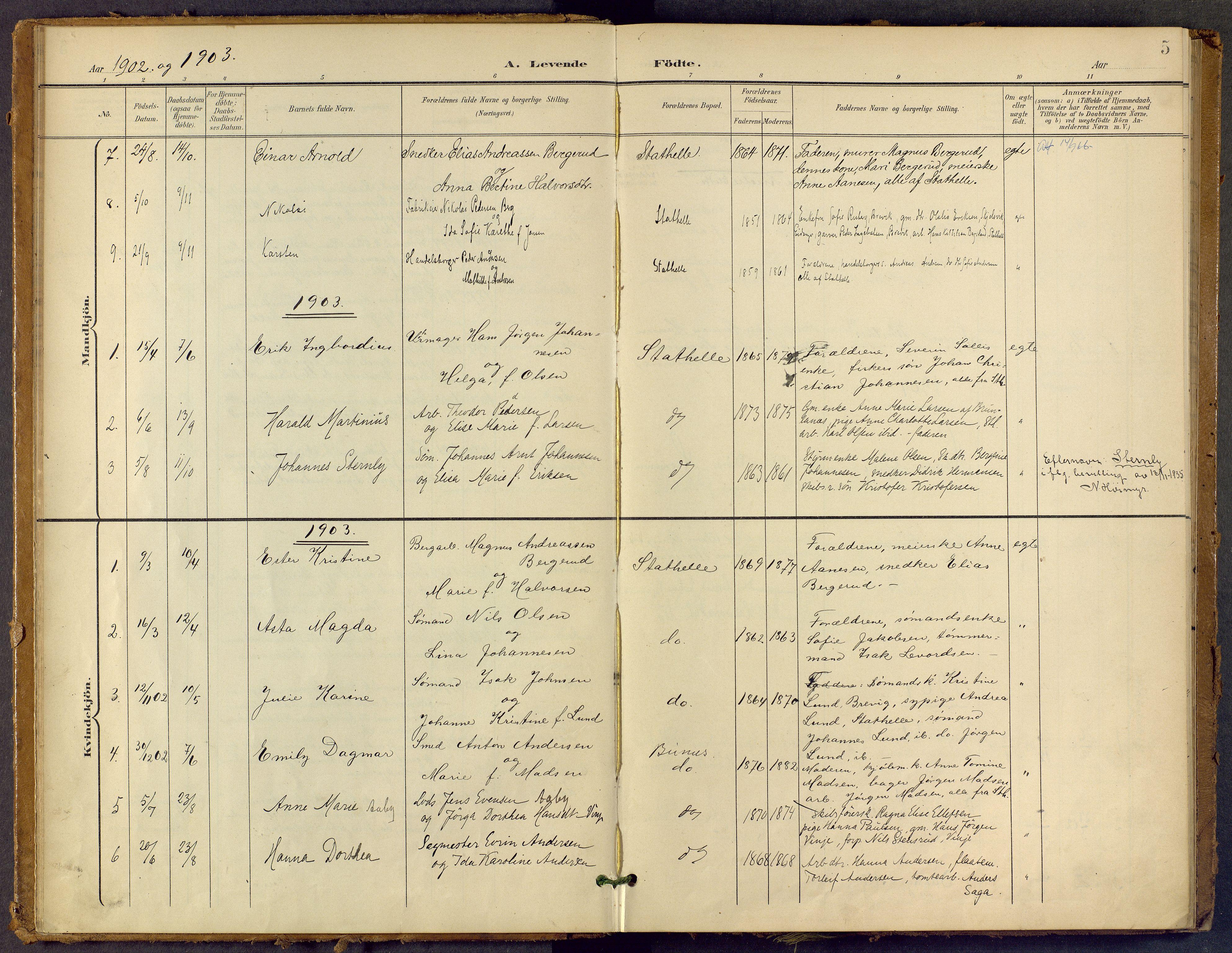 SAKO, Bamble kirkebøker, F/Fb/L0002: Ministerialbok nr. II 2, 1900-1921, s. 5
