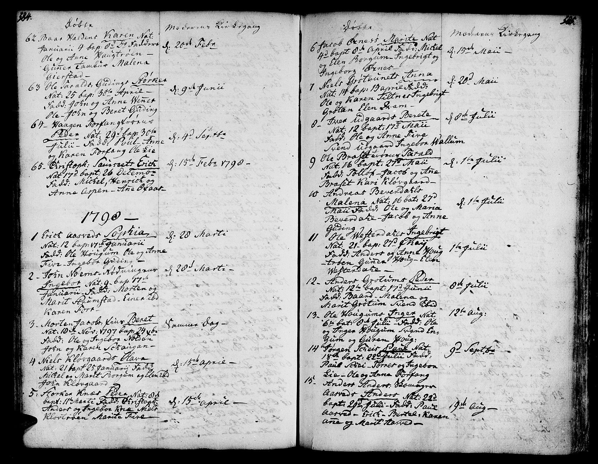 SAT, Ministerialprotokoller, klokkerbøker og fødselsregistre - Nord-Trøndelag, 746/L0440: Ministerialbok nr. 746A02, 1760-1815, s. 584-585