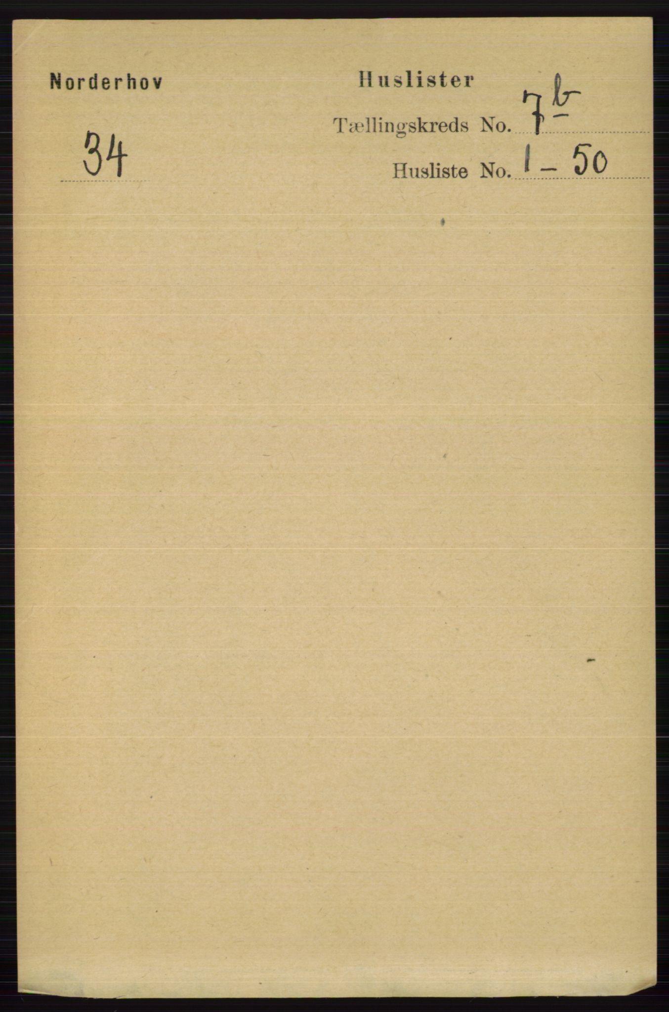 RA, Folketelling 1891 for 0613 Norderhov herred, 1891, s. 5042