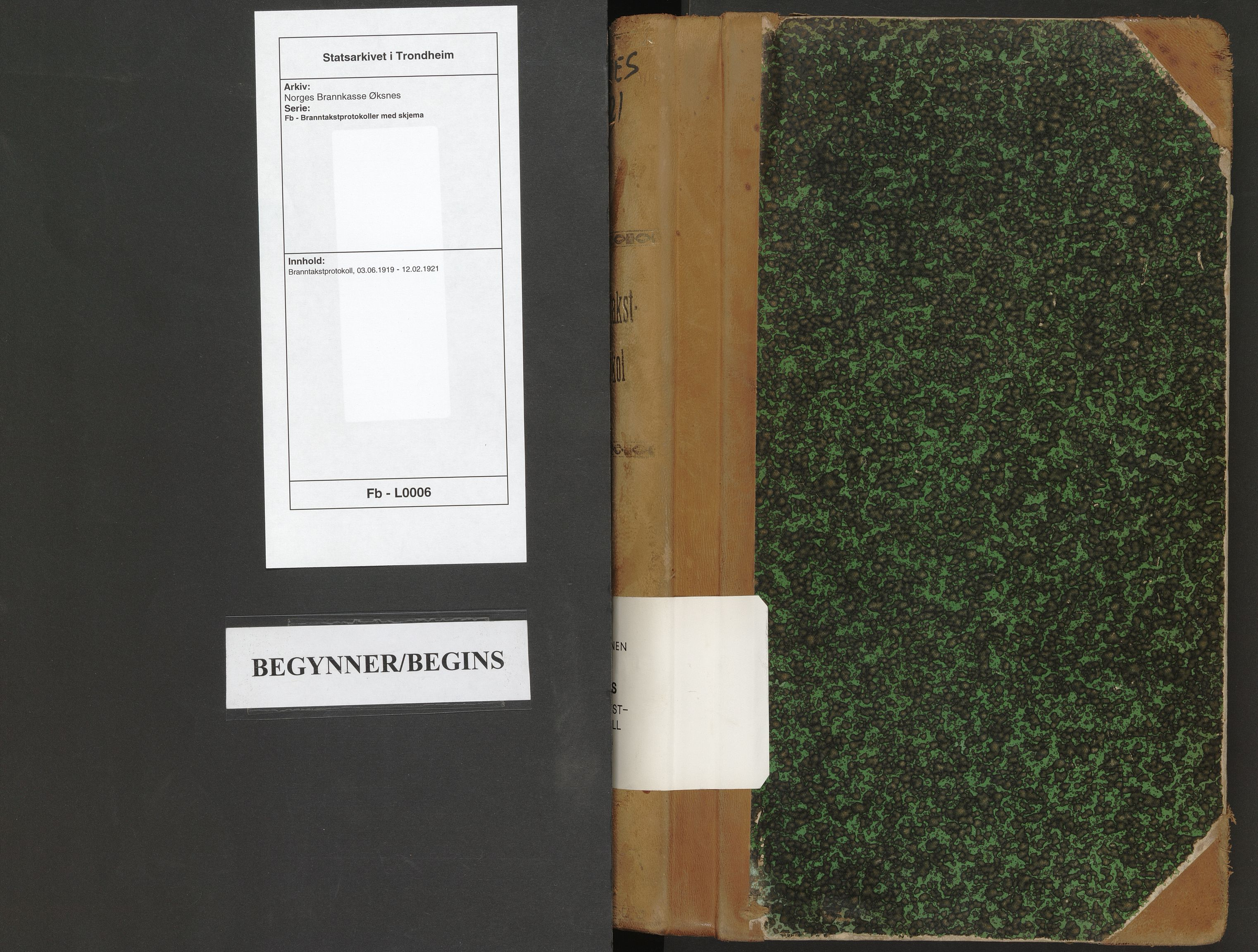 SAT, Norges Brannkasse Øksnes, Fb/L0006: Branntakstprotokoll, 1919-1921