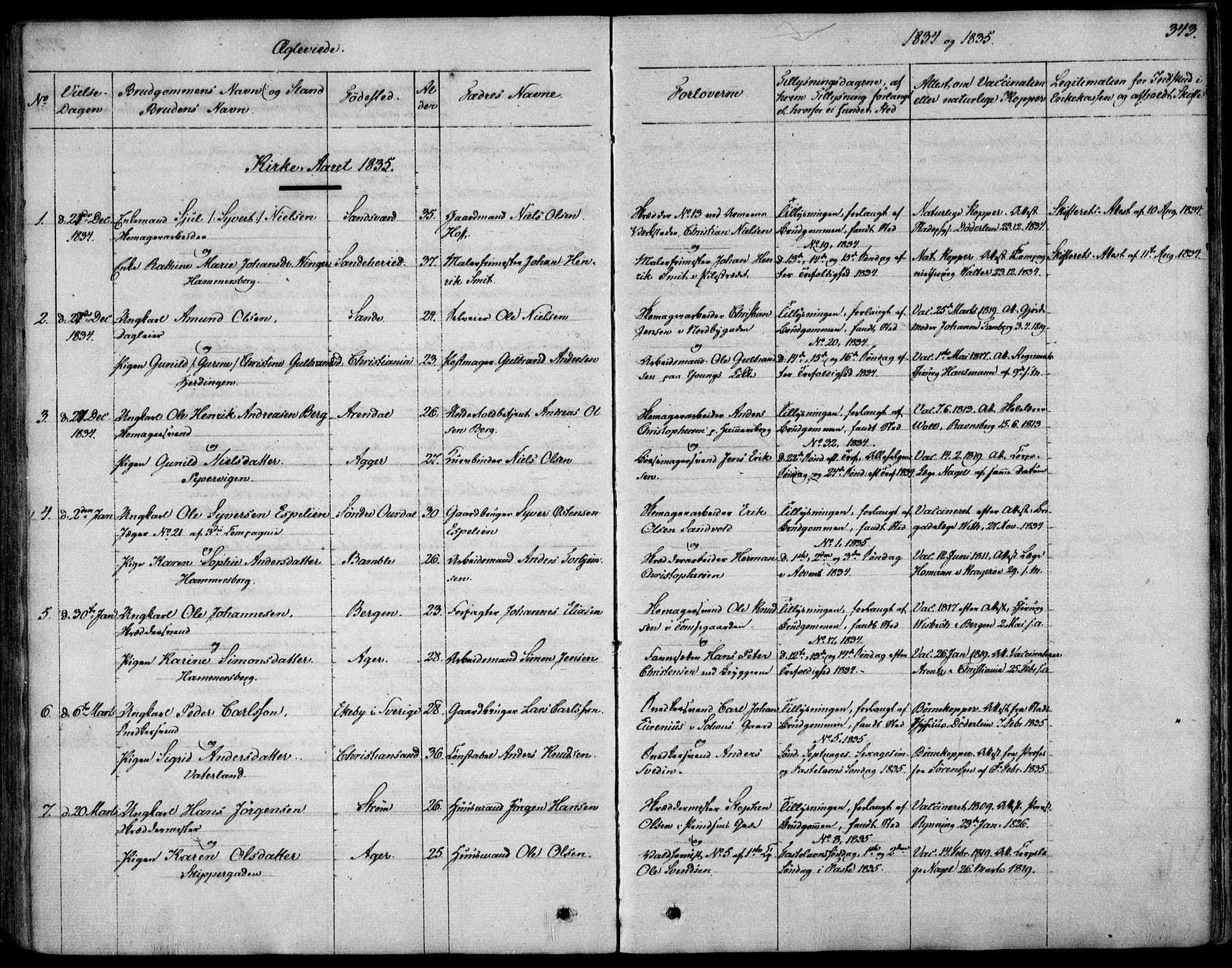 SAO, Garnisonsmenigheten Kirkebøker, F/Fa/L0006: Ministerialbok nr. 6, 1828-1841, s. 343