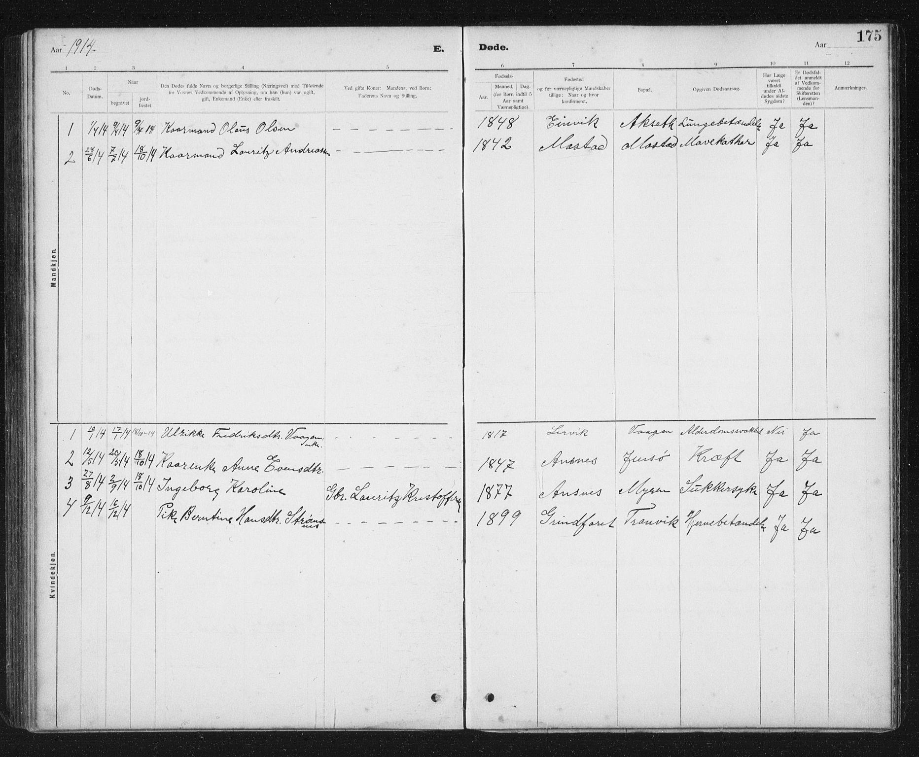 SAT, Ministerialprotokoller, klokkerbøker og fødselsregistre - Sør-Trøndelag, 637/L0563: Klokkerbok nr. 637C04, 1899-1940, s. 175