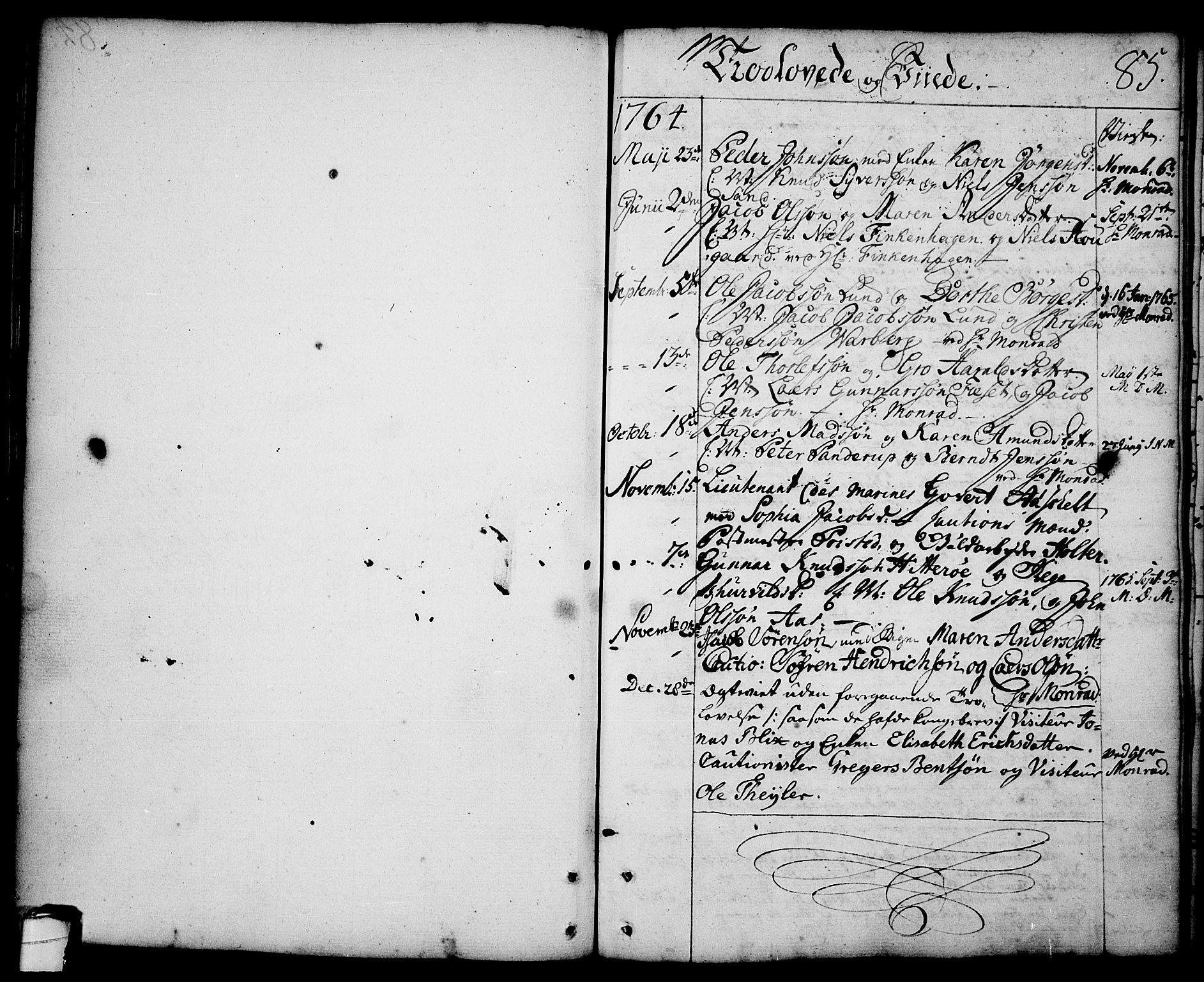 SAKO, Brevik kirkebøker, F/Fa/L0003: Ministerialbok nr. 3, 1764-1814, s. 85