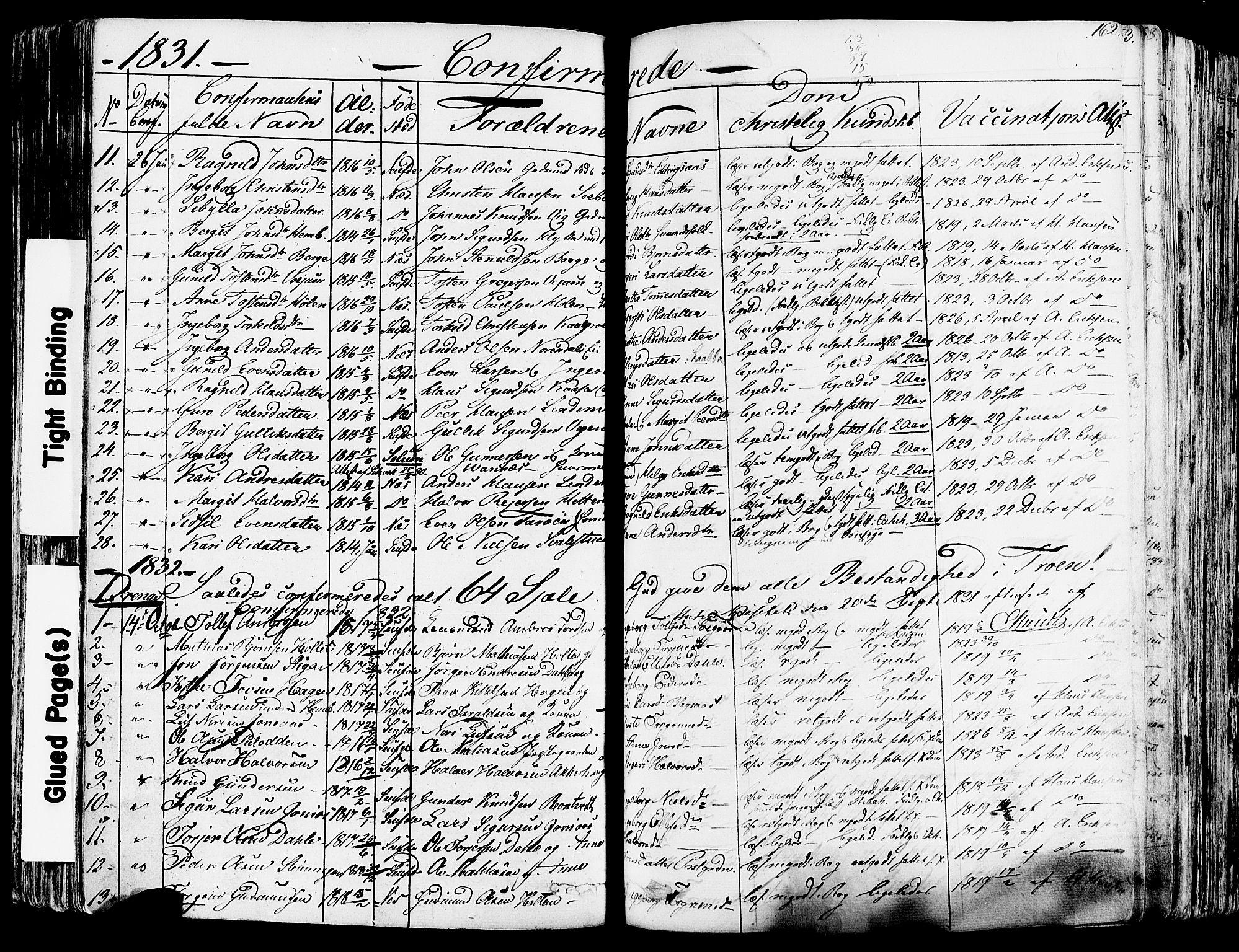 SAKO, Sauherad kirkebøker, F/Fa/L0006: Ministerialbok nr. I 6, 1827-1850, s. 162