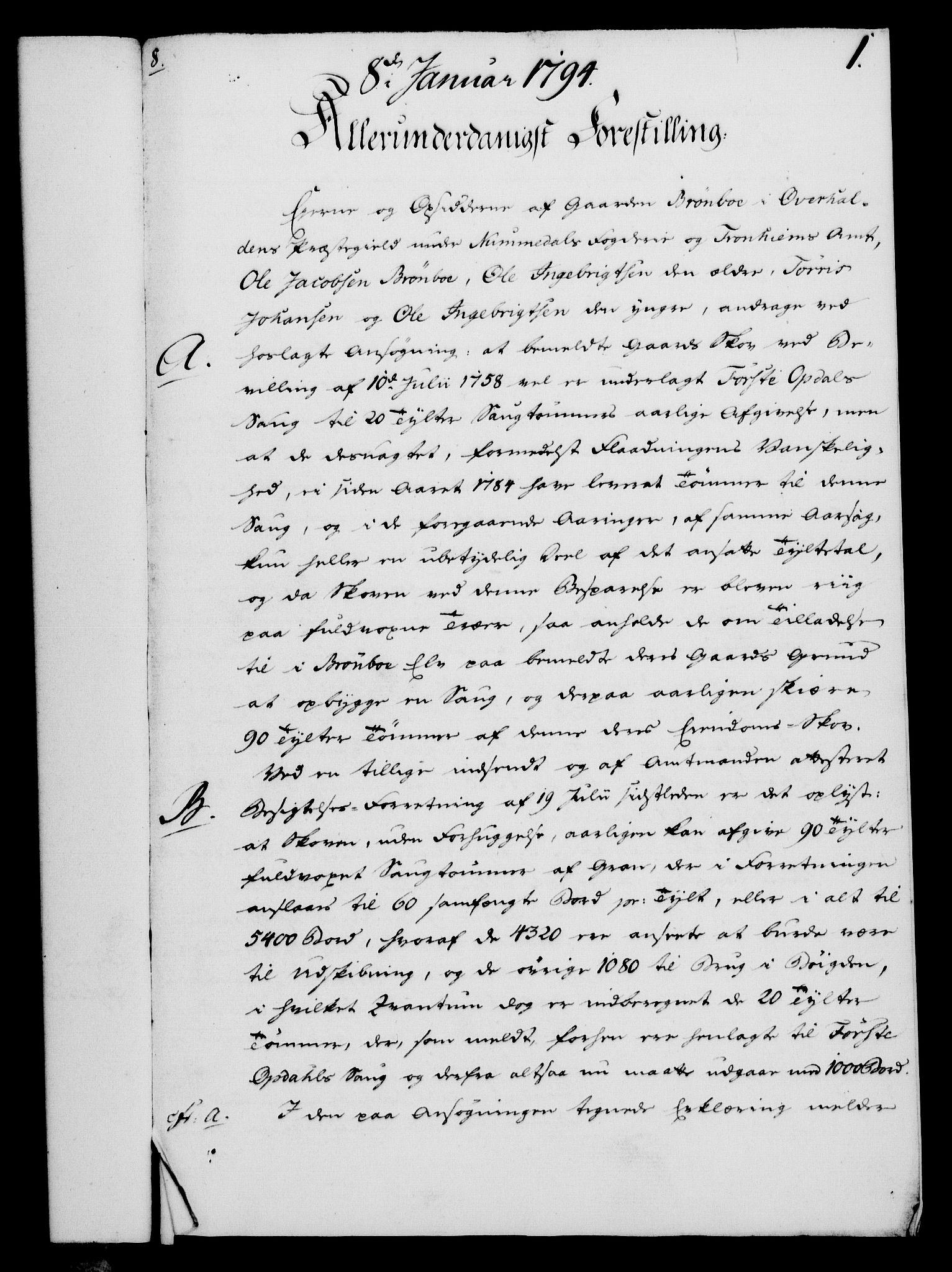 RA, Rentekammeret, Kammerkanselliet, G/Gf/Gfa/L0076: Norsk relasjons- og resolusjonsprotokoll (merket RK 52.76), 1794, s. 27