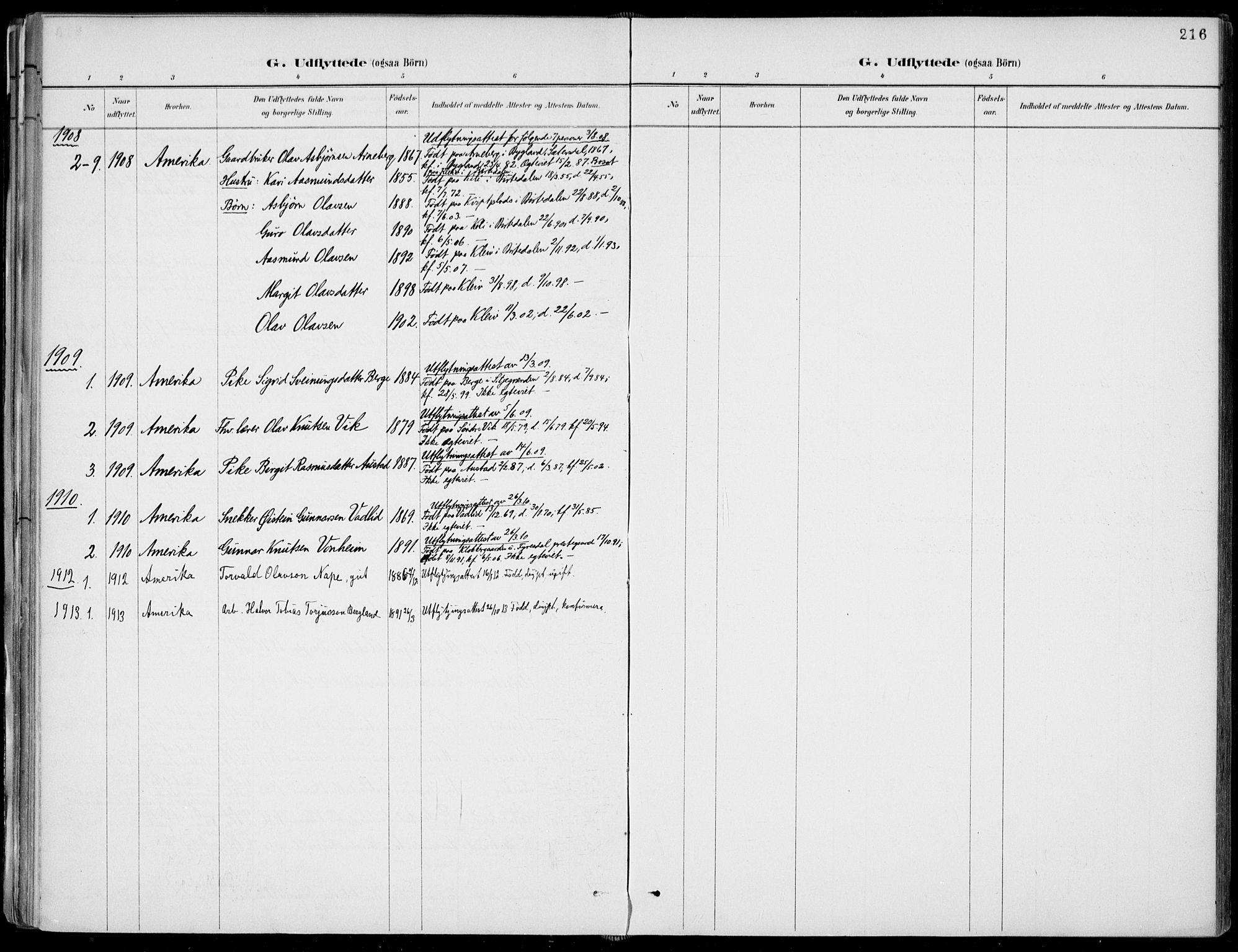 SAKO, Fyresdal kirkebøker, F/Fa/L0007: Ministerialbok nr. I 7, 1887-1914, s. 216