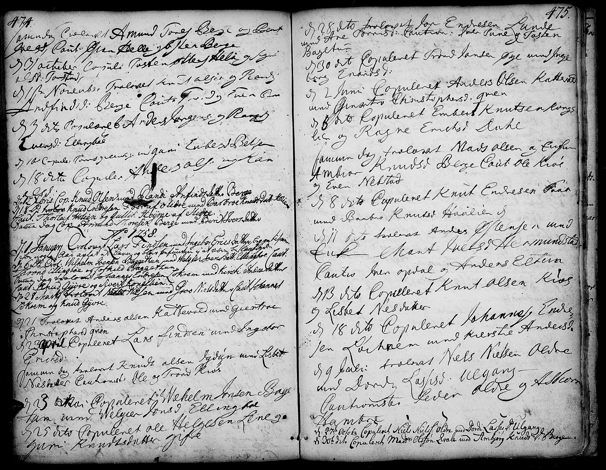 SAH, Vang prestekontor, Valdres, Ministerialbok nr. 1, 1730-1796, s. 474-475