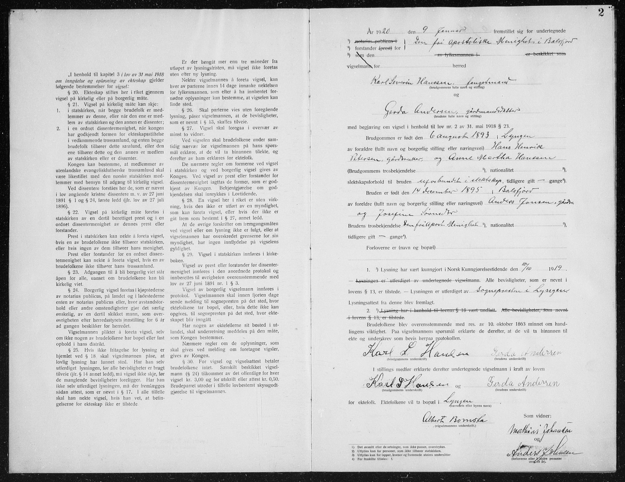 SATØ, Fylkesmannen i Troms, A7.10.1/L1977: Dissenterprotokoll nr. TF 1977, 1920-1922, s. 2