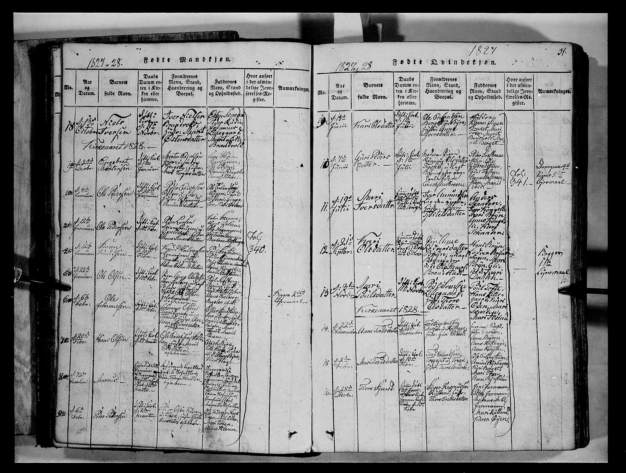SAH, Fron prestekontor, H/Ha/Hab/L0004: Klokkerbok nr. 4, 1816-1850, s. 31