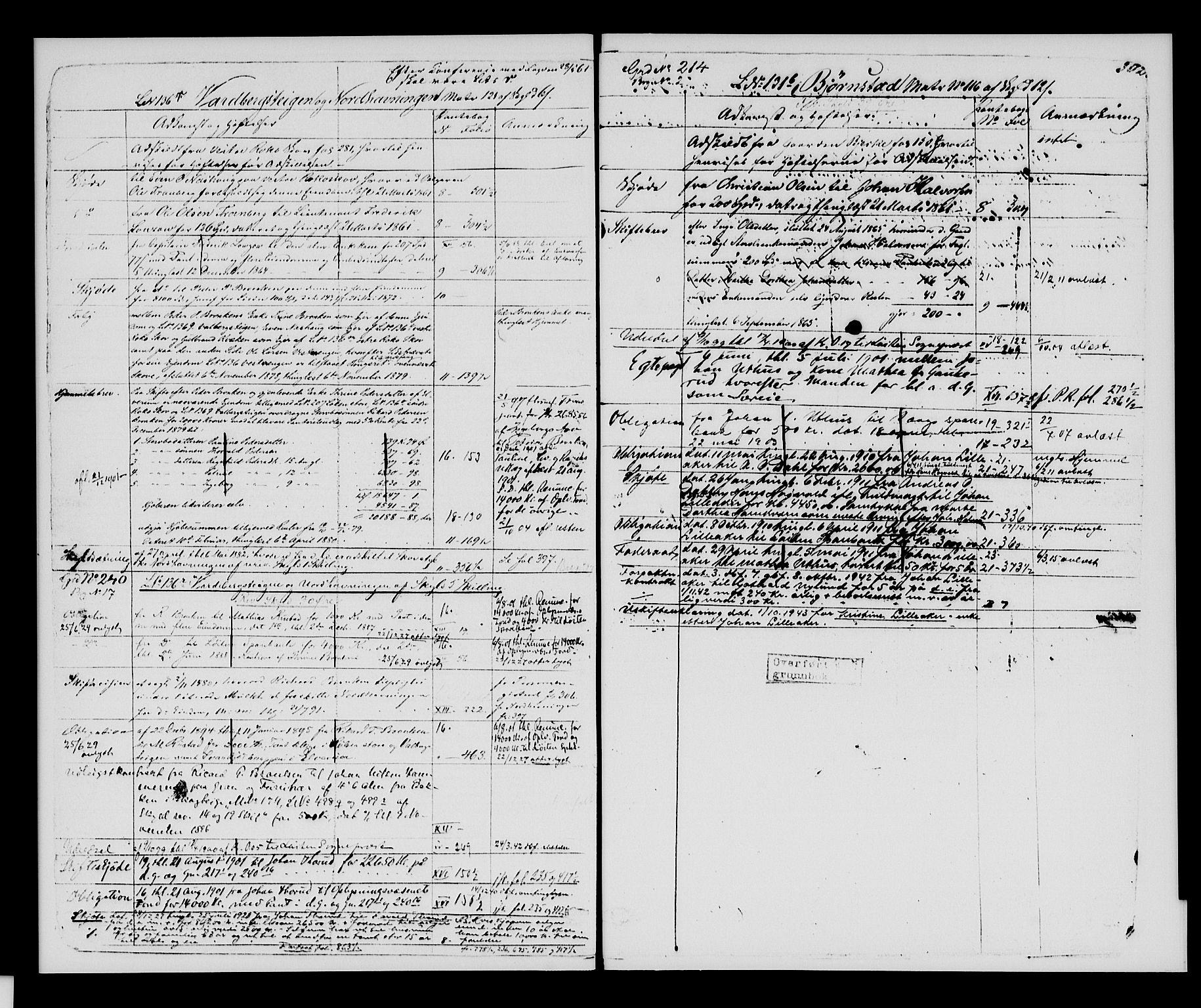 SAH, Sør-Hedmark sorenskriveri, H/Ha/Hac/Hacc/L0001: Panteregister nr. 3.1, 1855-1943, s. 302