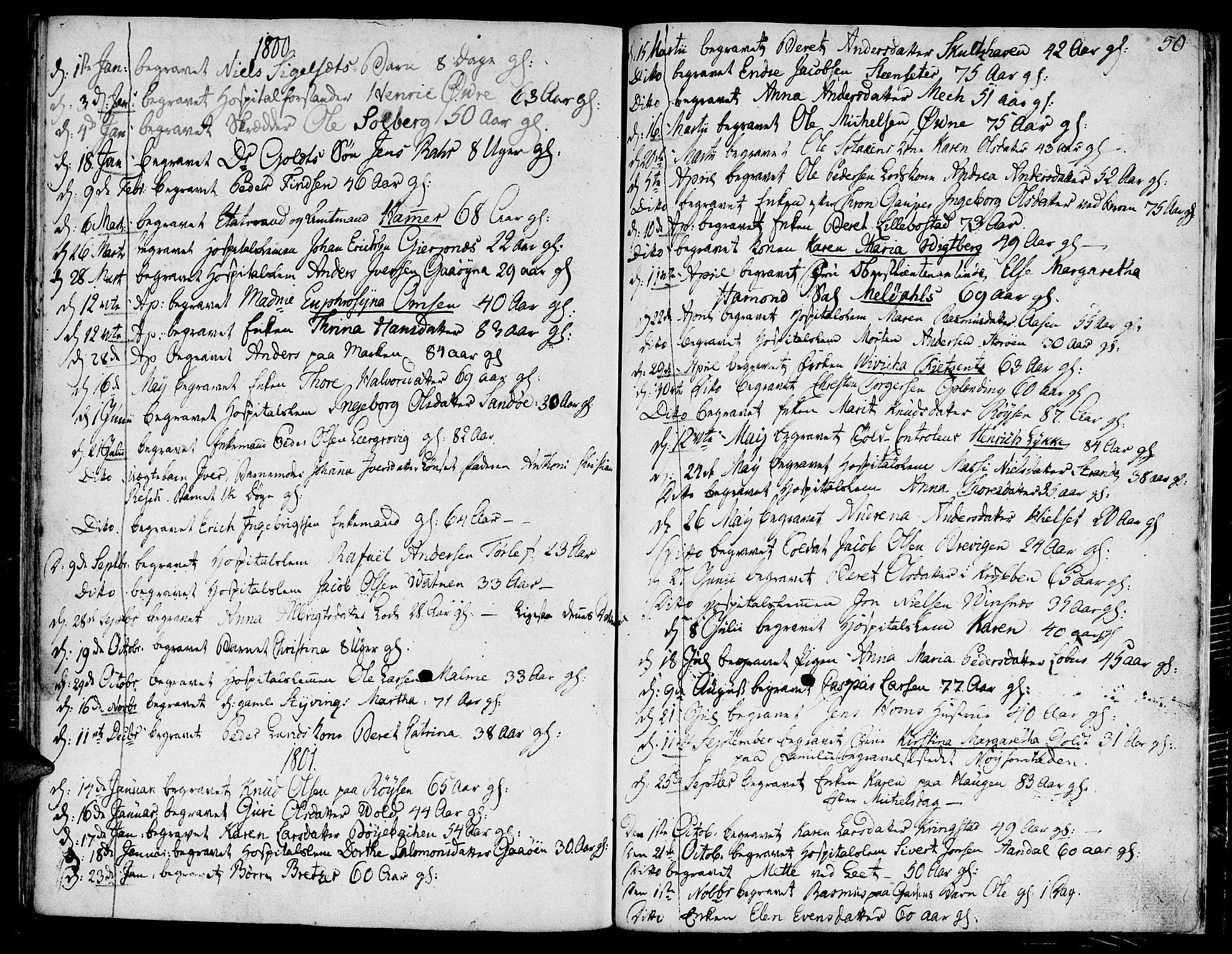 SAT, Ministerialprotokoller, klokkerbøker og fødselsregistre - Møre og Romsdal, 558/L0687: Ministerialbok nr. 558A01, 1798-1818, s. 50