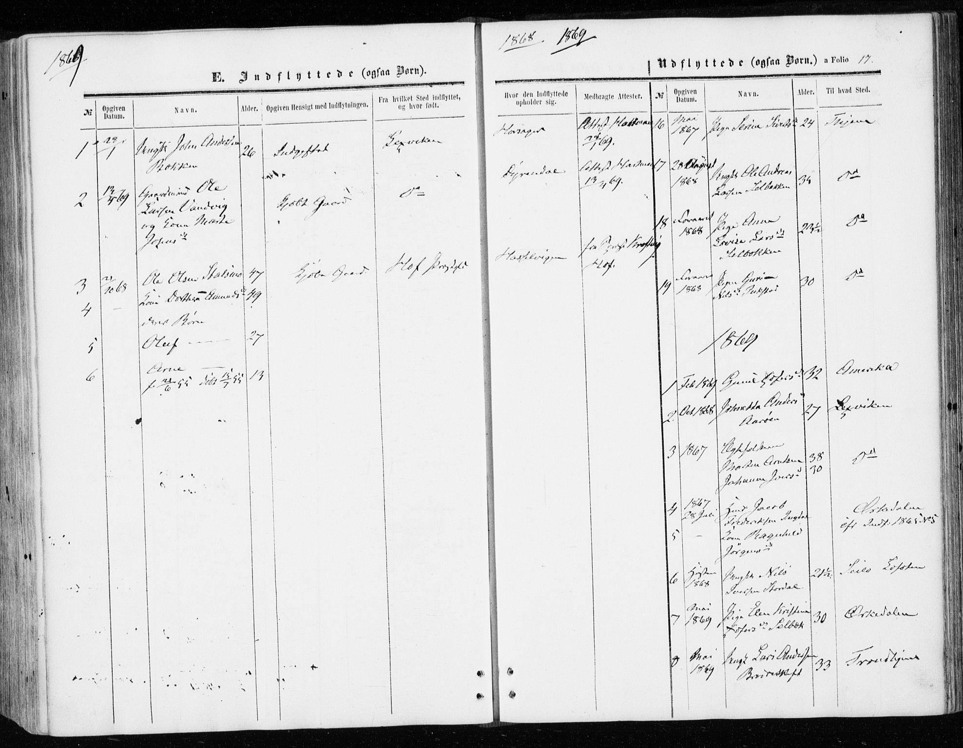 SAT, Ministerialprotokoller, klokkerbøker og fødselsregistre - Sør-Trøndelag, 646/L0612: Ministerialbok nr. 646A10, 1858-1869, s. 17