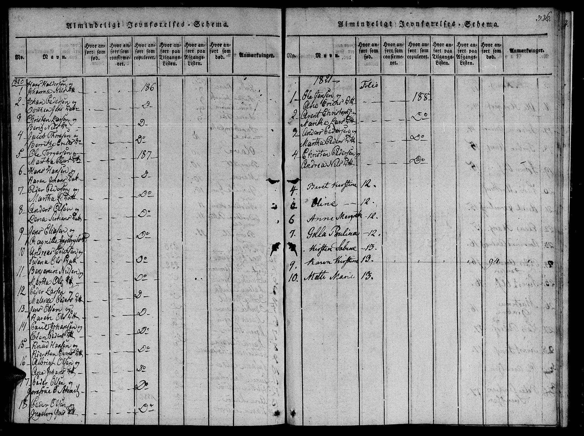 SAT, Ministerialprotokoller, klokkerbøker og fødselsregistre - Sør-Trøndelag, 655/L0675: Ministerialbok nr. 655A04, 1818-1830, s. 326