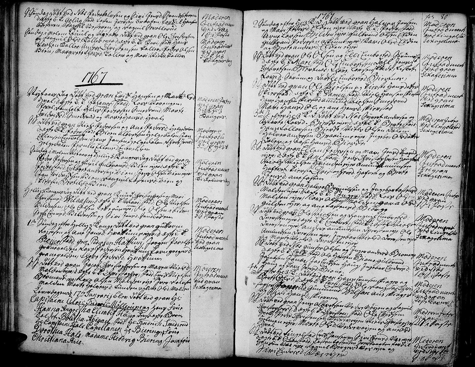 SAH, Gran prestekontor, Ministerialbok nr. 4, 1759-1775, s. 80