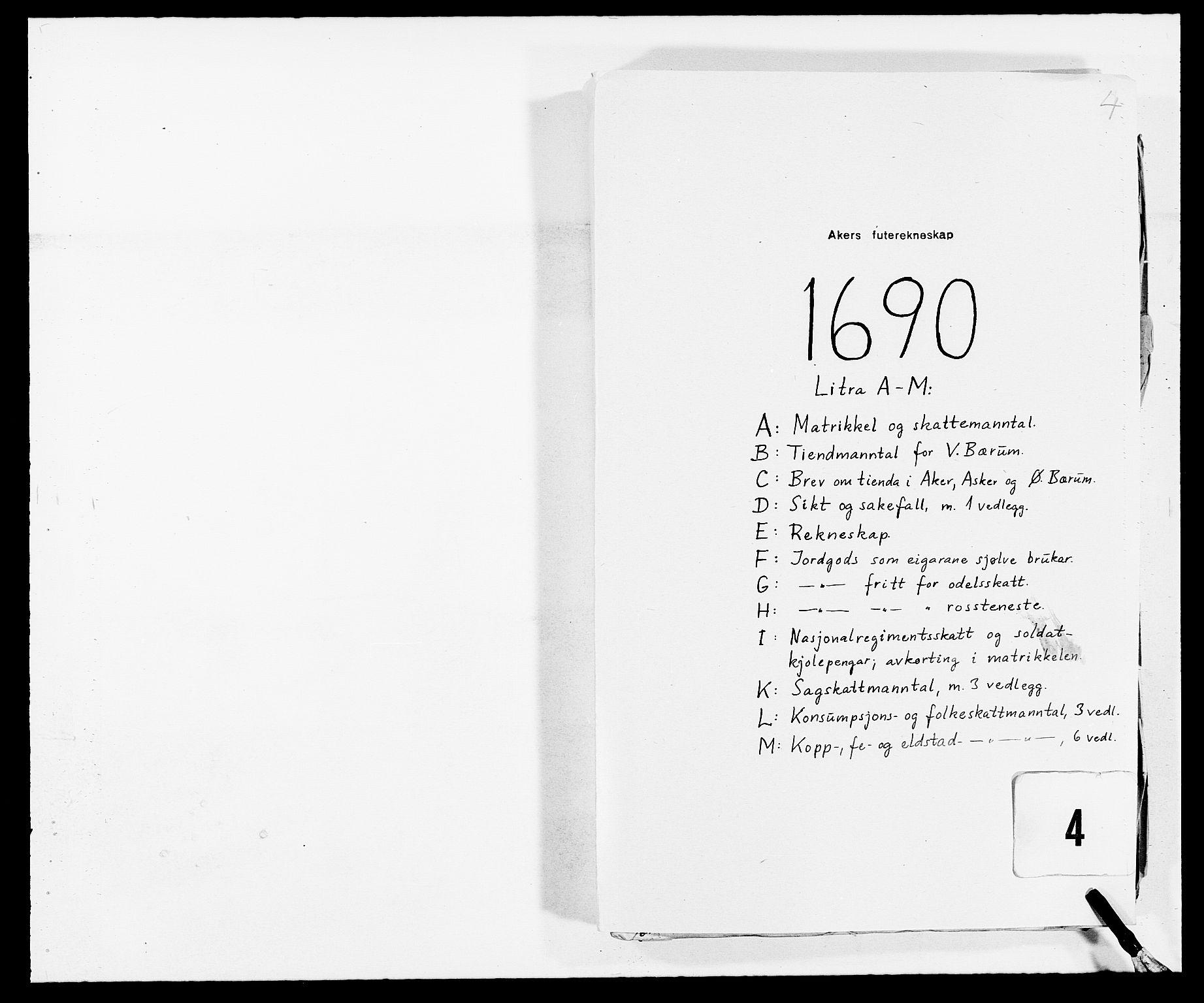 RA, Rentekammeret inntil 1814, Reviderte regnskaper, Fogderegnskap, R08/L0423: Fogderegnskap Aker, 1687-1689, s. 132