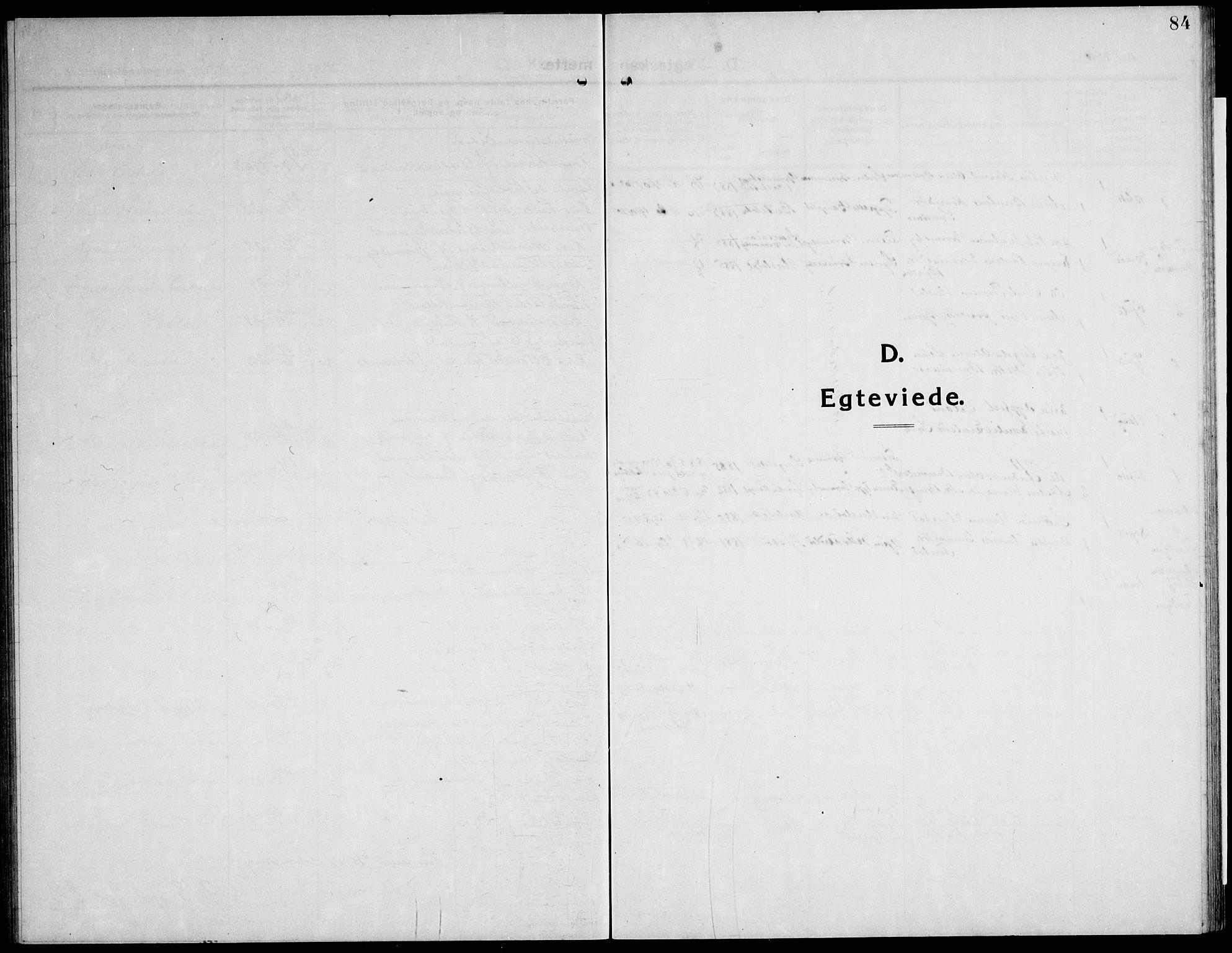 SAT, Ministerialprotokoller, klokkerbøker og fødselsregistre - Nord-Trøndelag, 732/L0319: Klokkerbok nr. 732C03, 1911-1945, s. 84