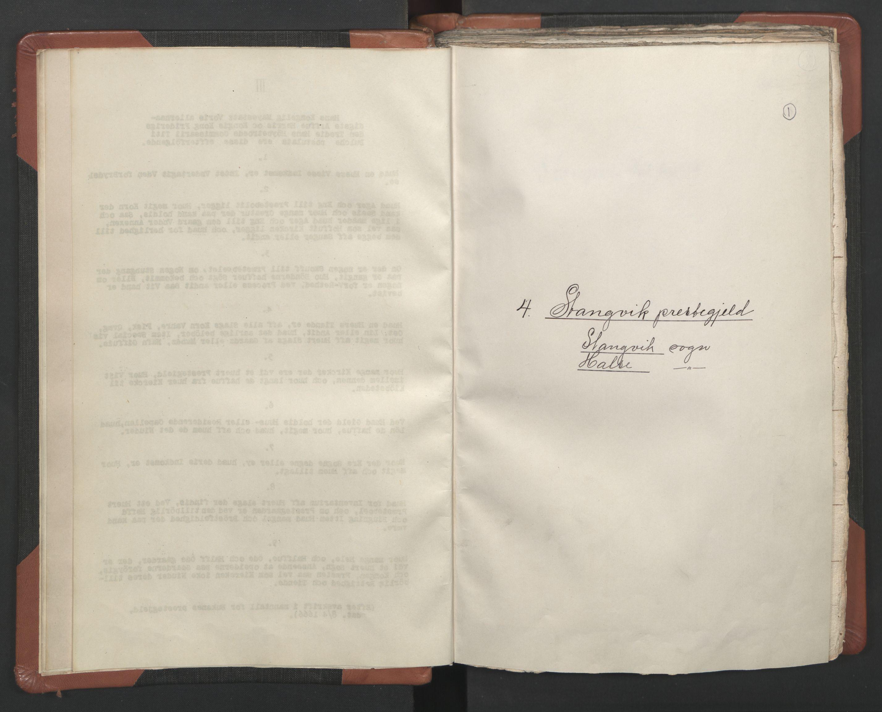 RA, Sogneprestenes manntall 1664-1666, nr. 29: Nordmøre prosti, 1664-1666, s. 1