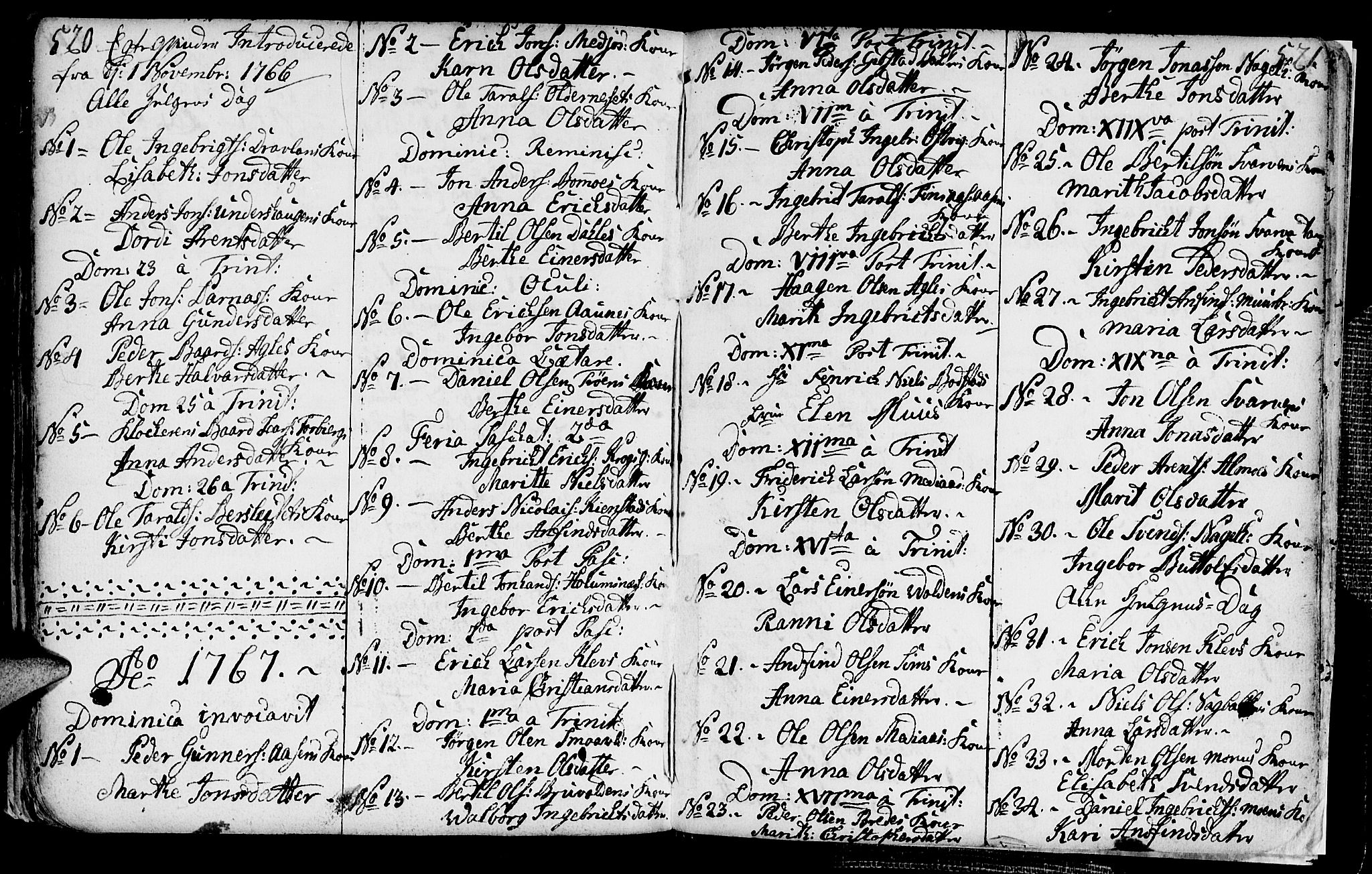 SAT, Ministerialprotokoller, klokkerbøker og fødselsregistre - Nord-Trøndelag, 749/L0467: Ministerialbok nr. 749A01, 1733-1787, s. 520-521