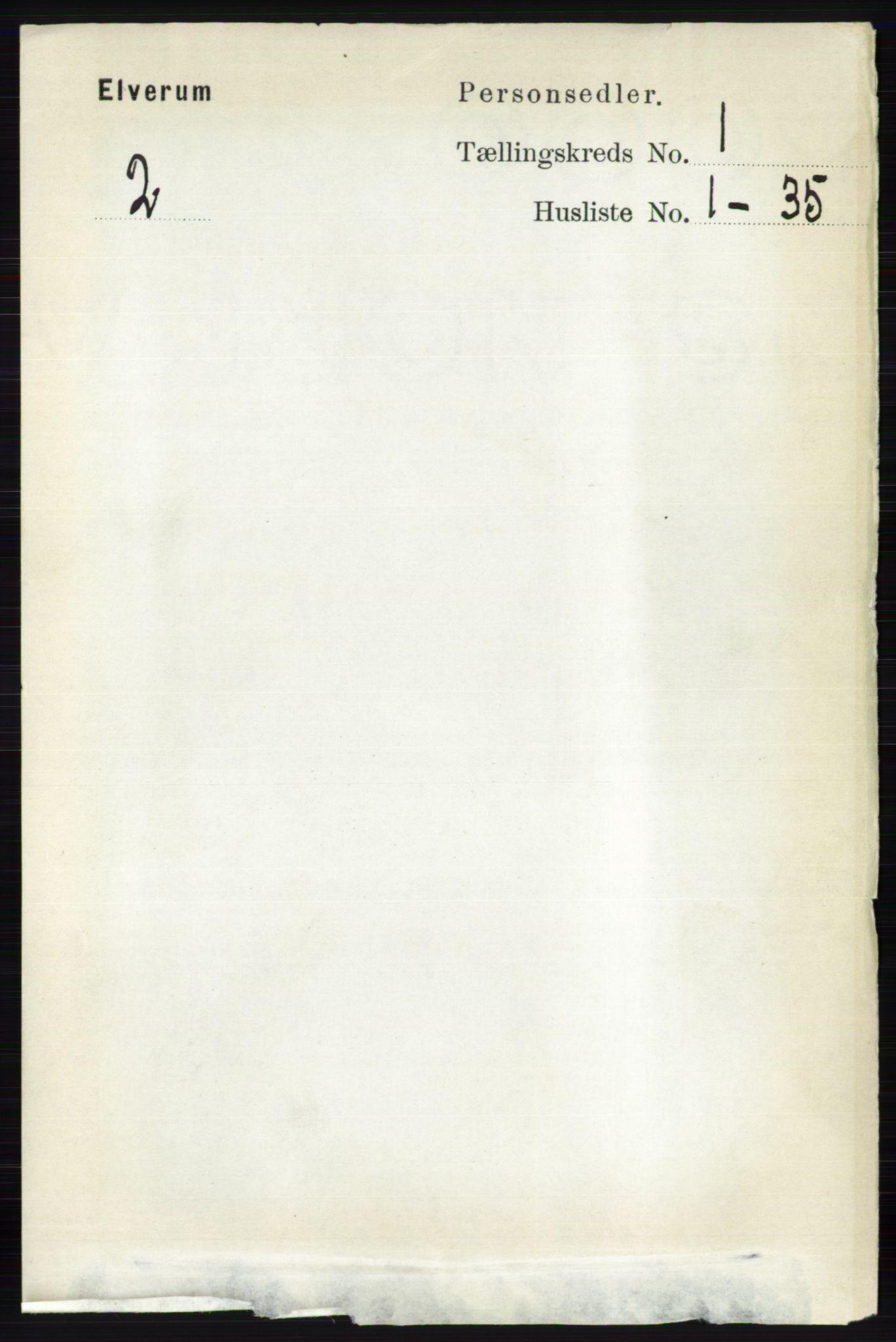 RA, Folketelling 1891 for 0427 Elverum herred, 1891, s. 202