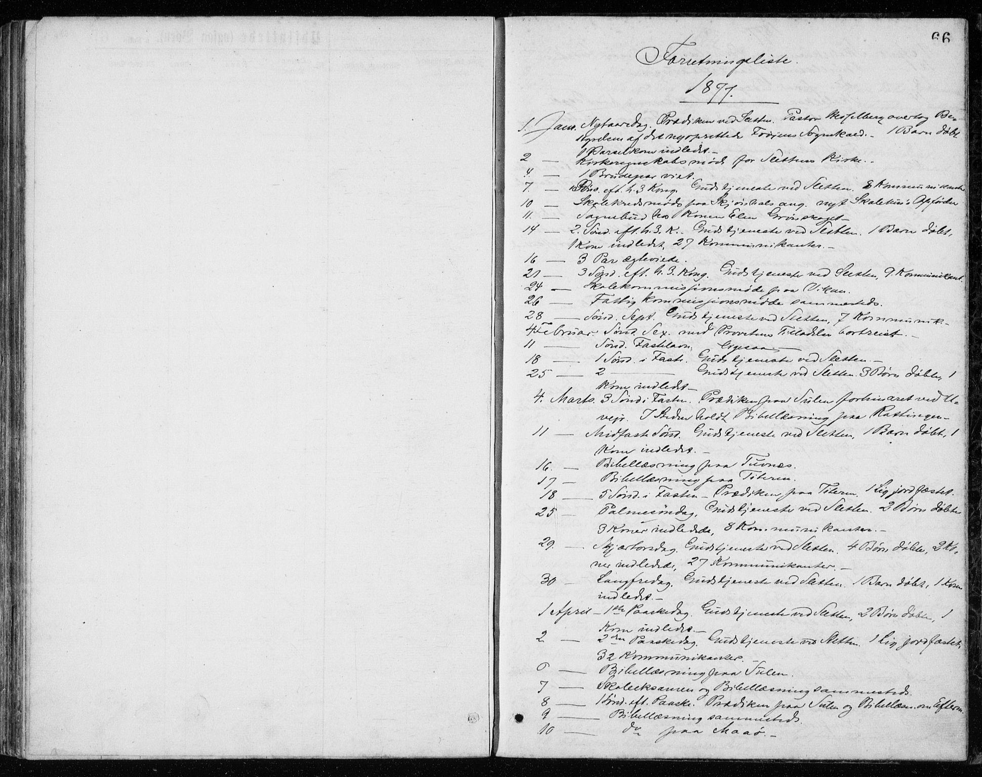 SAT, Ministerialprotokoller, klokkerbøker og fødselsregistre - Sør-Trøndelag, 640/L0577: Ministerialbok nr. 640A02, 1877-1878, s. 66