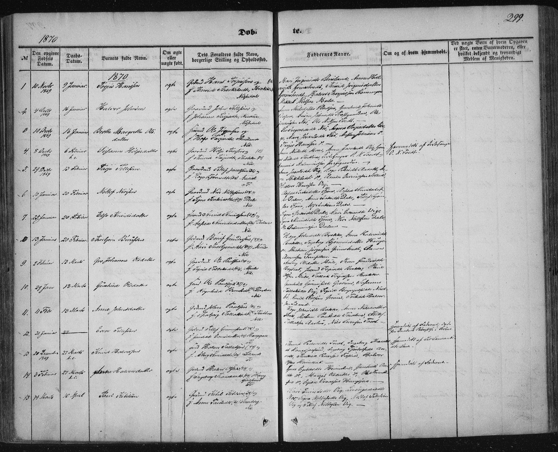 SAKO, Nissedal kirkebøker, F/Fa/L0003: Ministerialbok nr. I 3, 1846-1870, s. 298-299