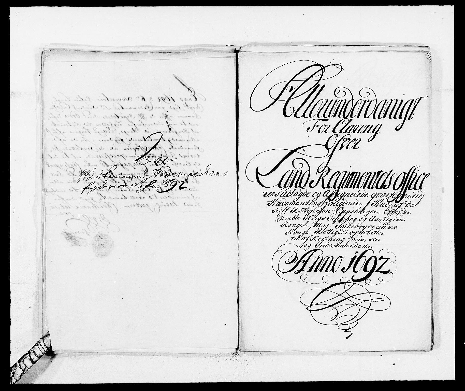 RA, Rentekammeret inntil 1814, Reviderte regnskaper, Fogderegnskap, R16/L1032: Fogderegnskap Hedmark, 1689-1692, s. 95