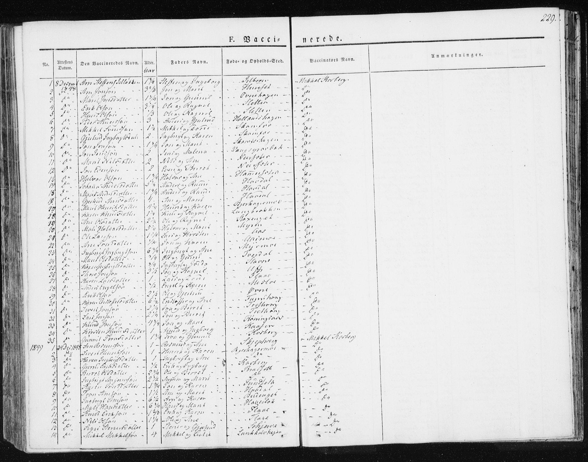SAT, Ministerialprotokoller, klokkerbøker og fødselsregistre - Sør-Trøndelag, 674/L0869: Ministerialbok nr. 674A01, 1829-1860, s. 229