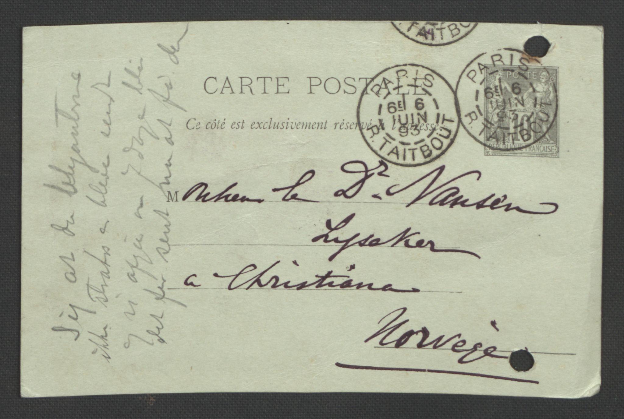 RA, Arbeidskomitéen for Fridtjof Nansens polarekspedisjon, D/L0003: Innk. brev og telegrammer vedr. proviant og utrustning, 1893, s. 57
