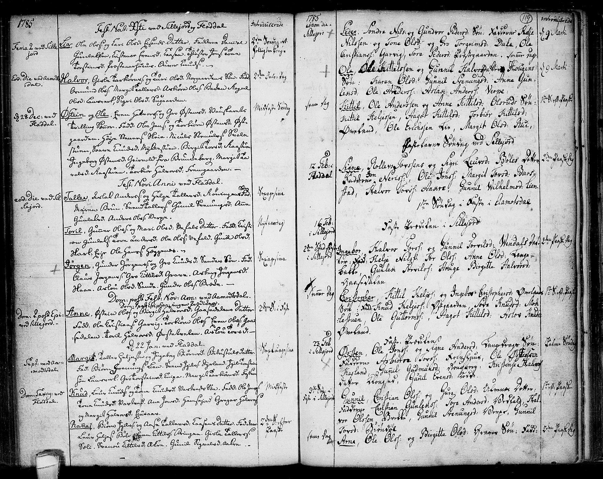 SAKO, Seljord kirkebøker, F/Fa/L0007: Ministerialbok nr. I 7, 1755-1800, s. 119