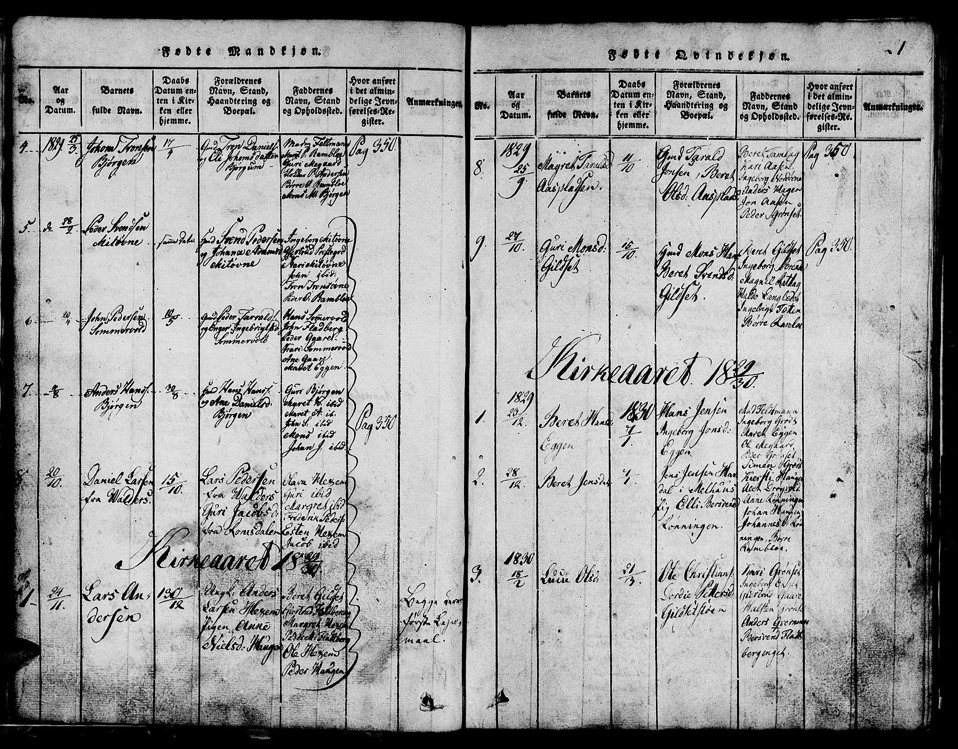 SAT, Ministerialprotokoller, klokkerbøker og fødselsregistre - Sør-Trøndelag, 685/L0976: Klokkerbok nr. 685C01, 1817-1878, s. 21