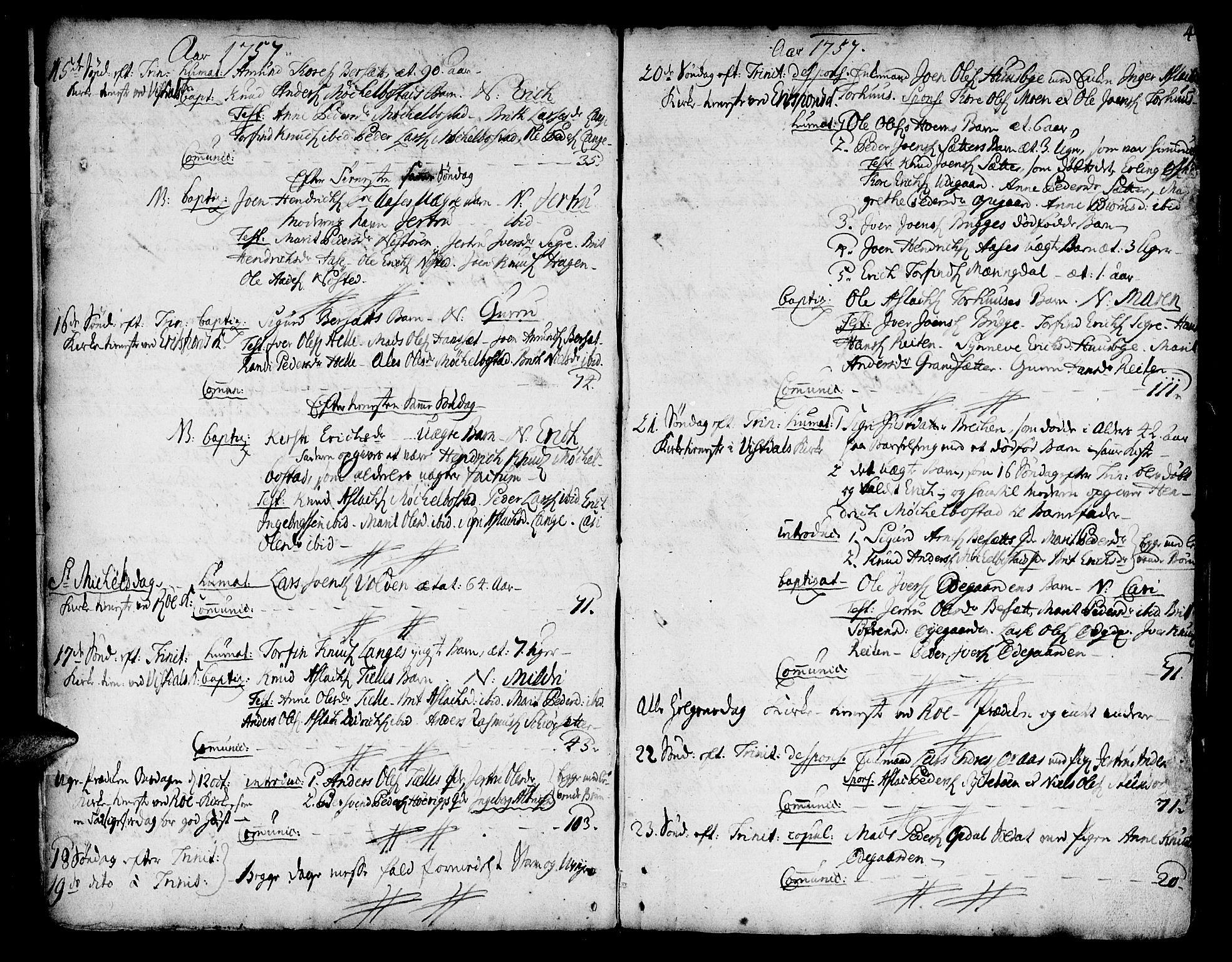 SAT, Ministerialprotokoller, klokkerbøker og fødselsregistre - Møre og Romsdal, 551/L0621: Ministerialbok nr. 551A01, 1757-1803, s. 4