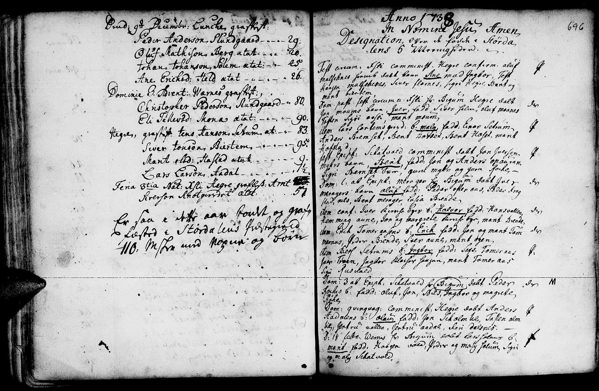 SAT, Ministerialprotokoller, klokkerbøker og fødselsregistre - Nord-Trøndelag, 709/L0055: Ministerialbok nr. 709A03, 1730-1739, s. 695-696