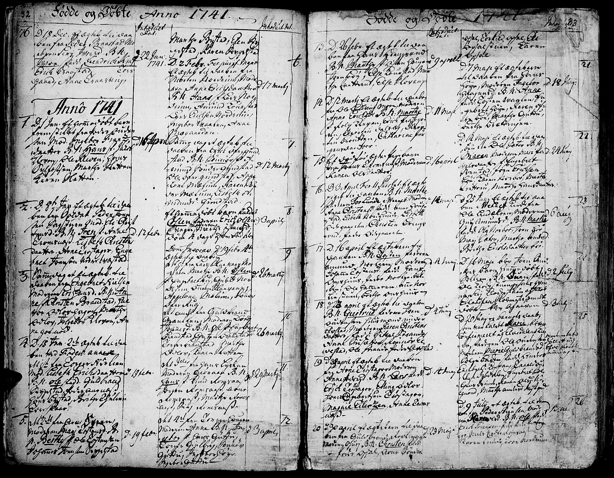 SAH, Ringebu prestekontor, Ministerialbok nr. 2, 1734-1780, s. 32-33