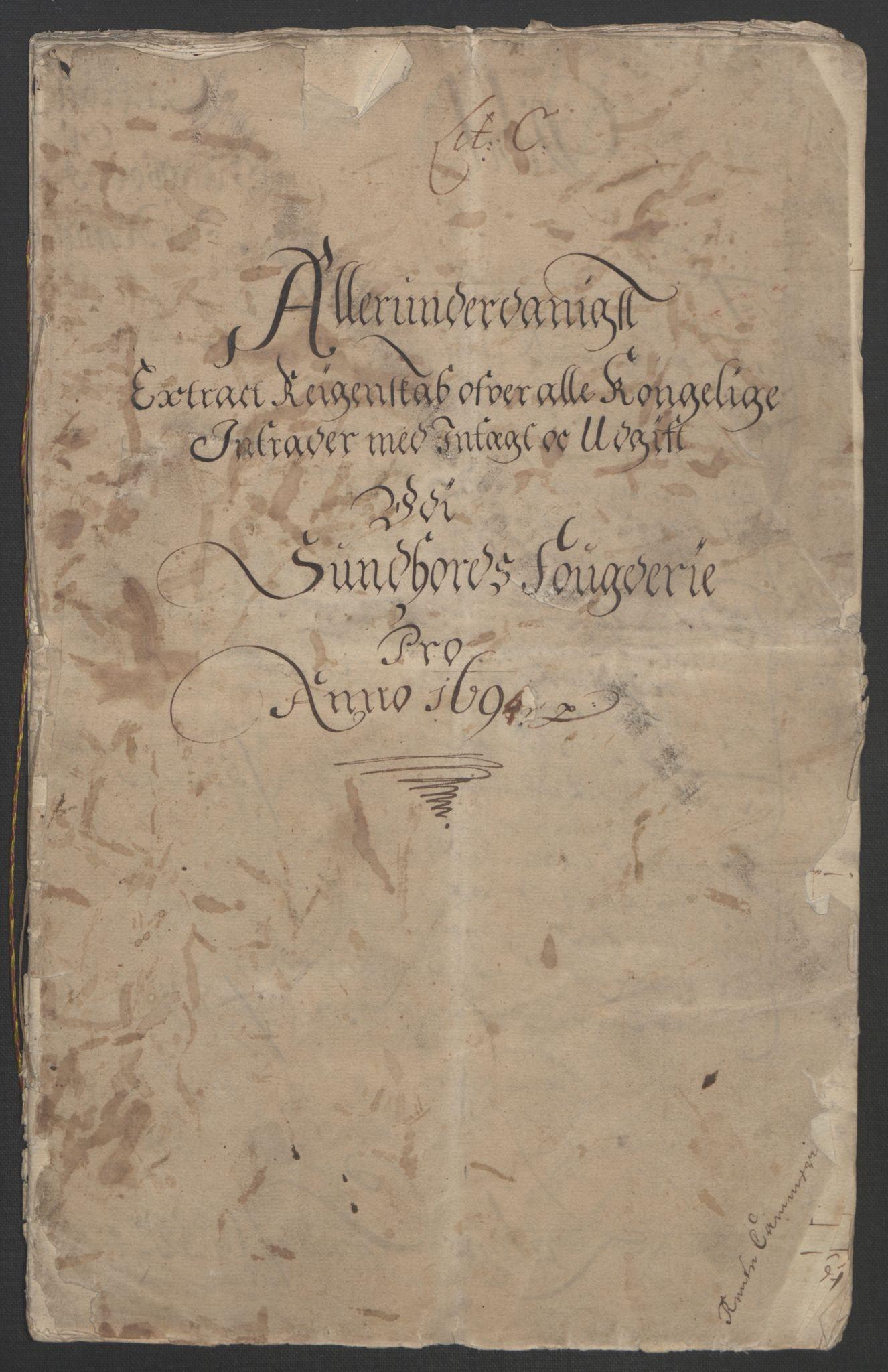 RA, Rentekammeret inntil 1814, Reviderte regnskaper, Fogderegnskap, R48/L2975: Fogderegnskap Sunnhordland og Hardanger, 1694, s. 4