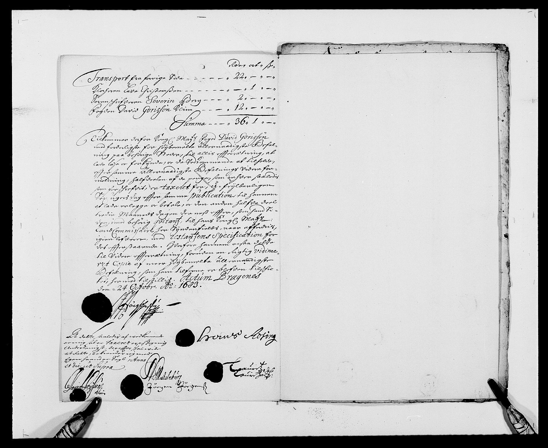 RA, Rentekammeret inntil 1814, Reviderte regnskaper, Fogderegnskap, R24/L1570: Fogderegnskap Numedal og Sandsvær, 1679-1686, s. 360