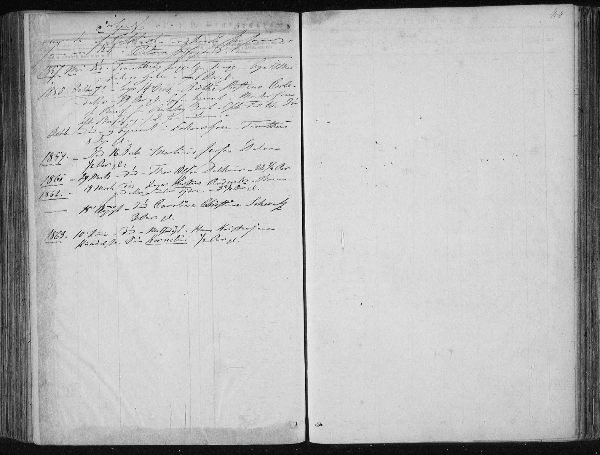 SAKO, Solum kirkebøker, F/Fa/L0007: Ministerialbok nr. I 7, 1856-1864, s. 404