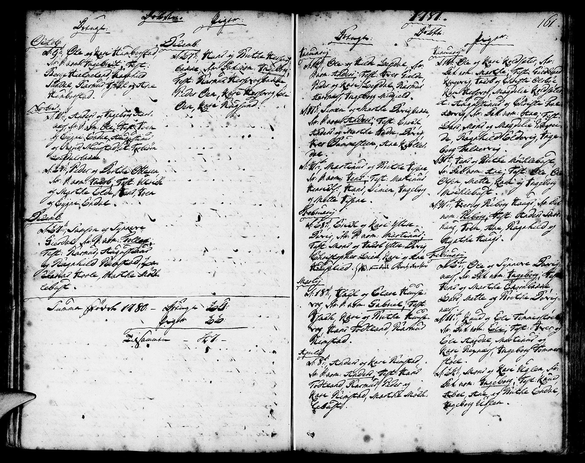 SAB, Davik Sokneprestembete, Ministerialbok nr. A 2, 1742-1816, s. 161