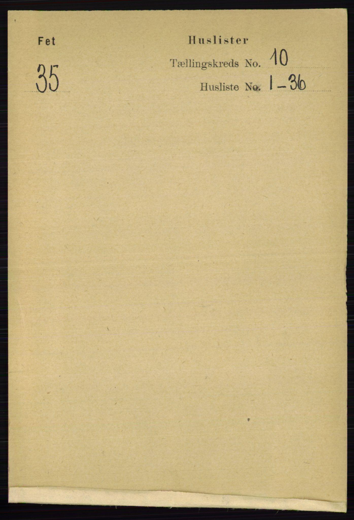 RA, Folketelling 1891 for 0227 Fet herred, 1891, s. 3948