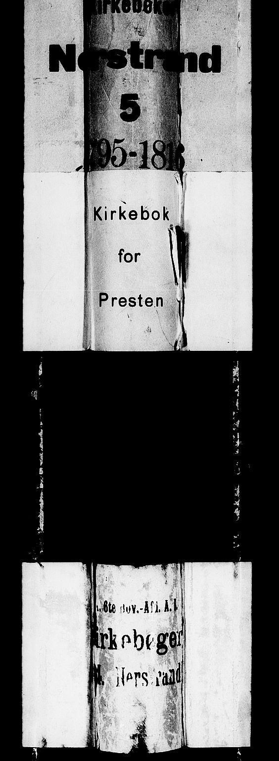SAST, Nedstrand sokneprestkontor, IV: Ministerialbok nr. A 5, 1795-1816